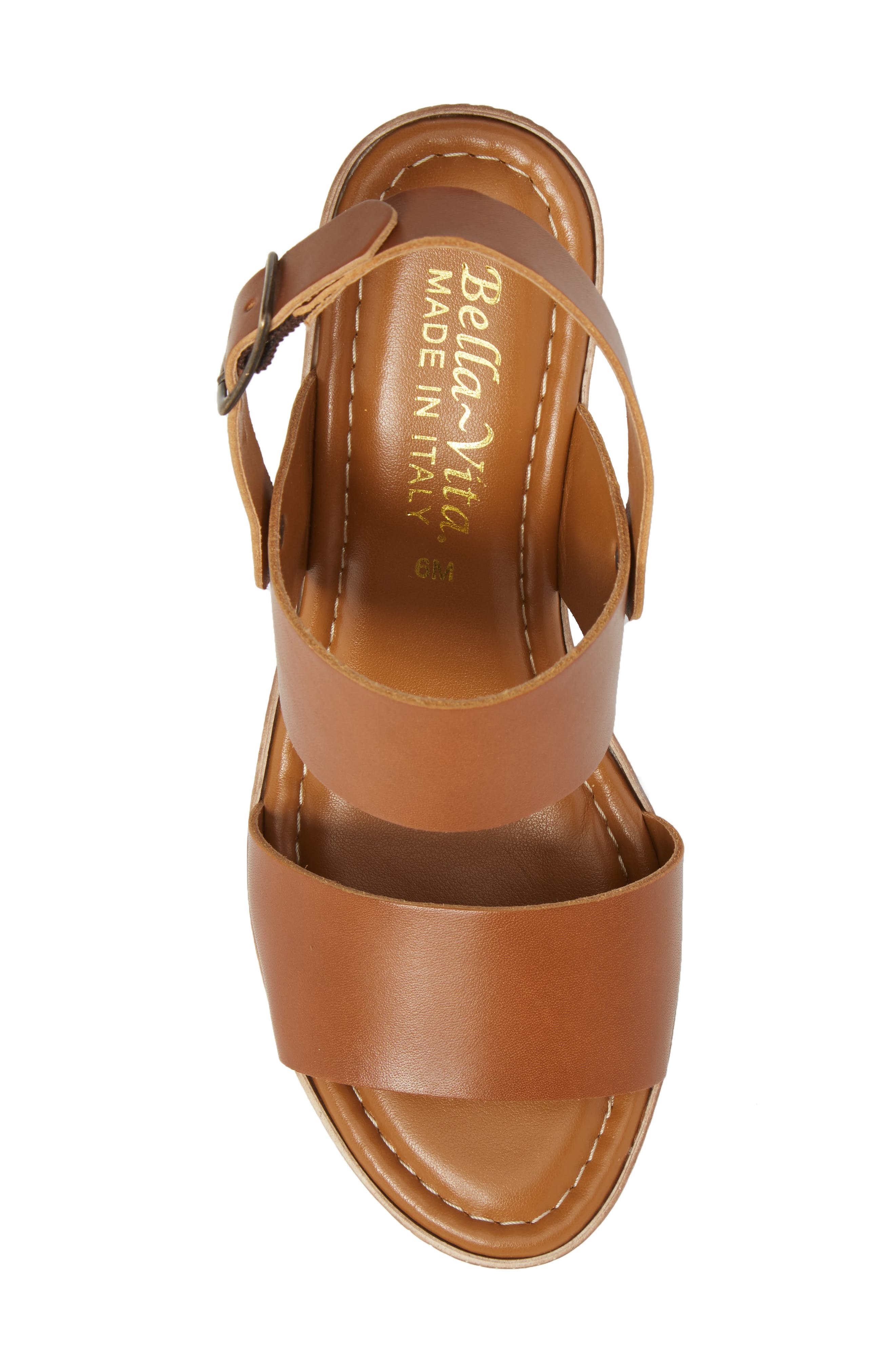 Cor Wedge Sandal,                             Alternate thumbnail 5, color,                             WHISKEY LEATHER