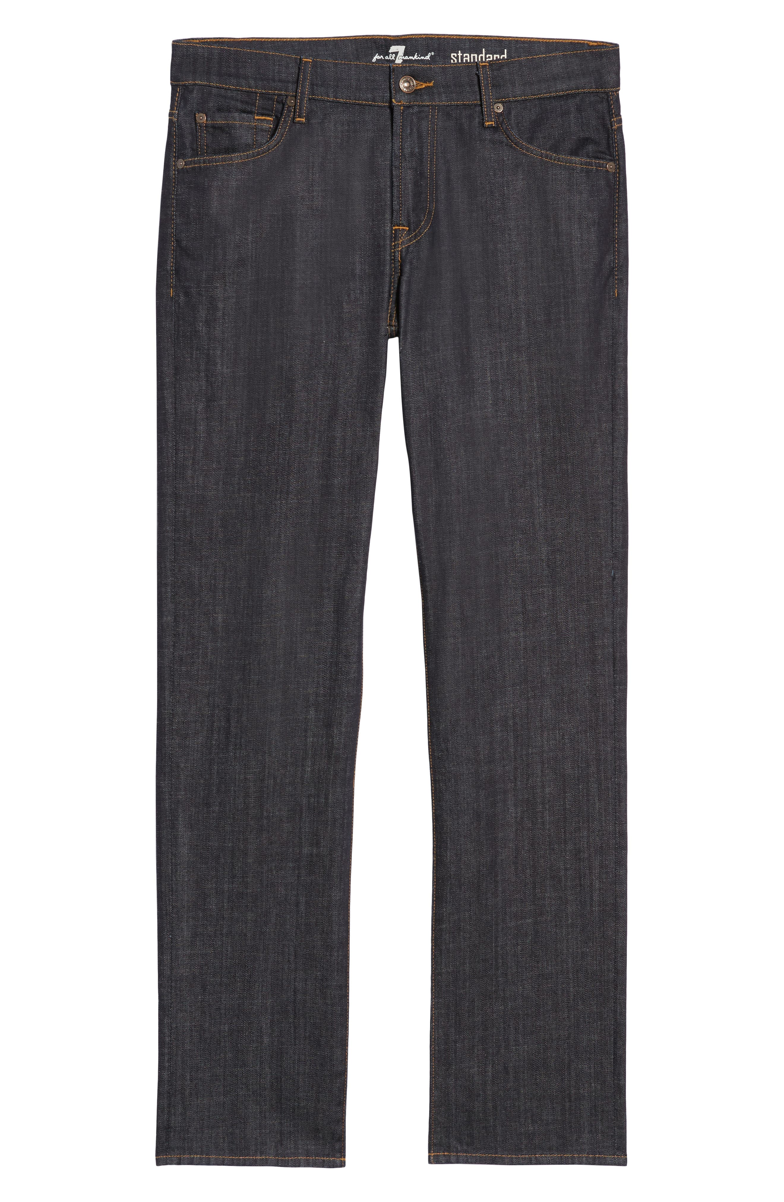 'Standard' Straight Leg Jeans,                             Alternate thumbnail 7, color,                             DARK AND CLEAN