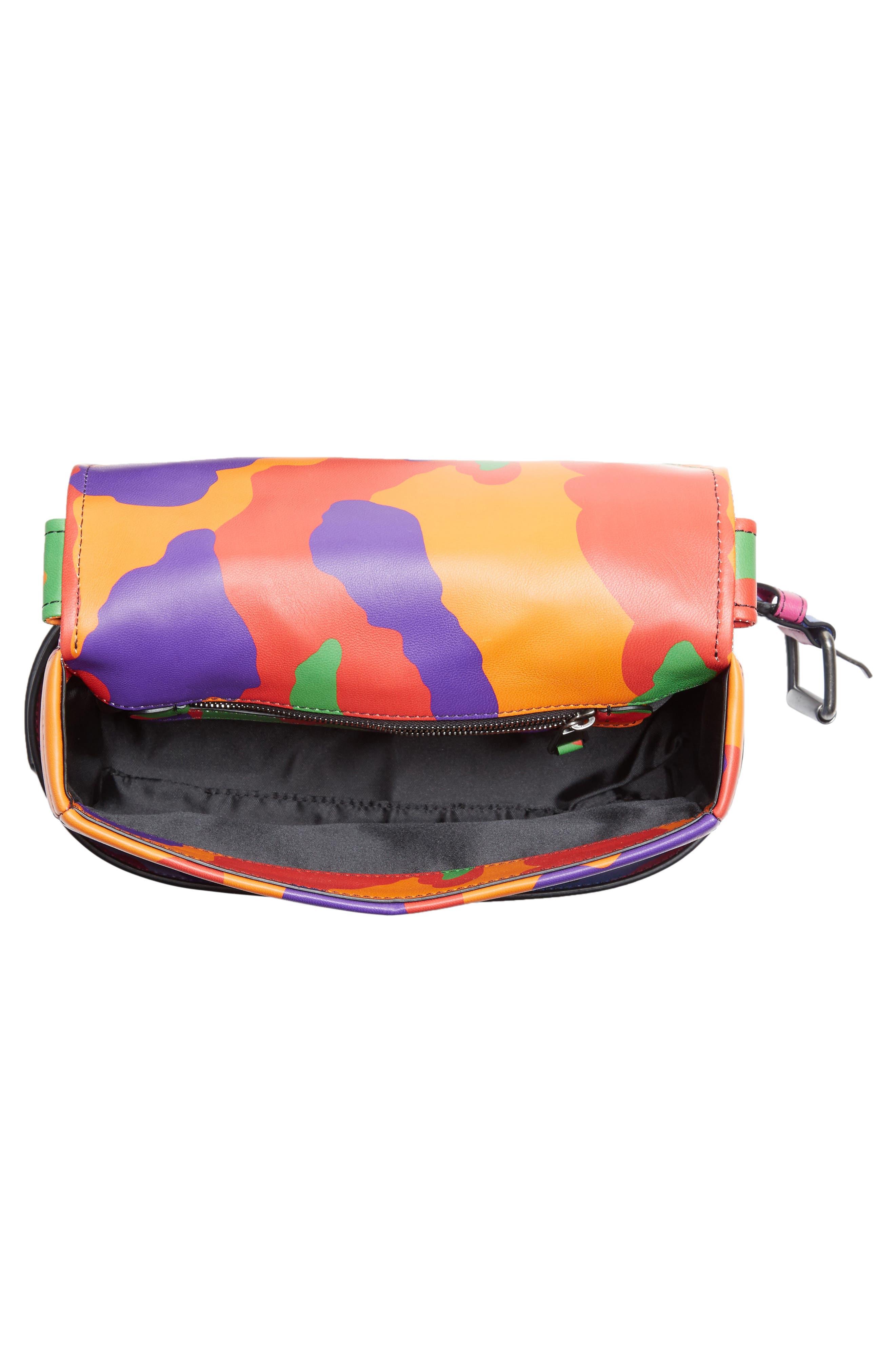Small Biker Jacket Multi Camo Shoulder Bag,                             Alternate thumbnail 4, color,                             340