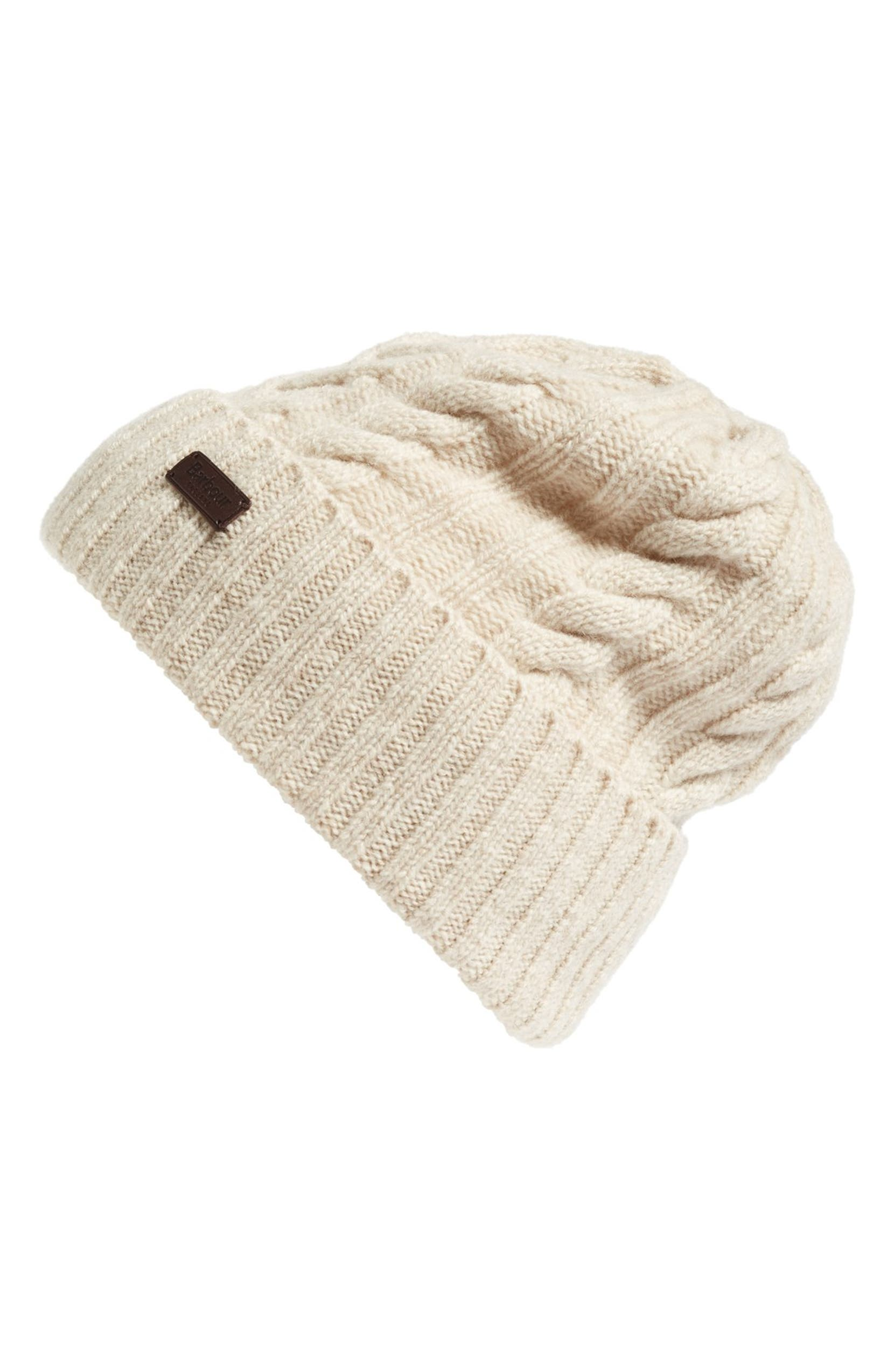 d2569d08a60 Barbour Lambswool Cable Knit Hat
