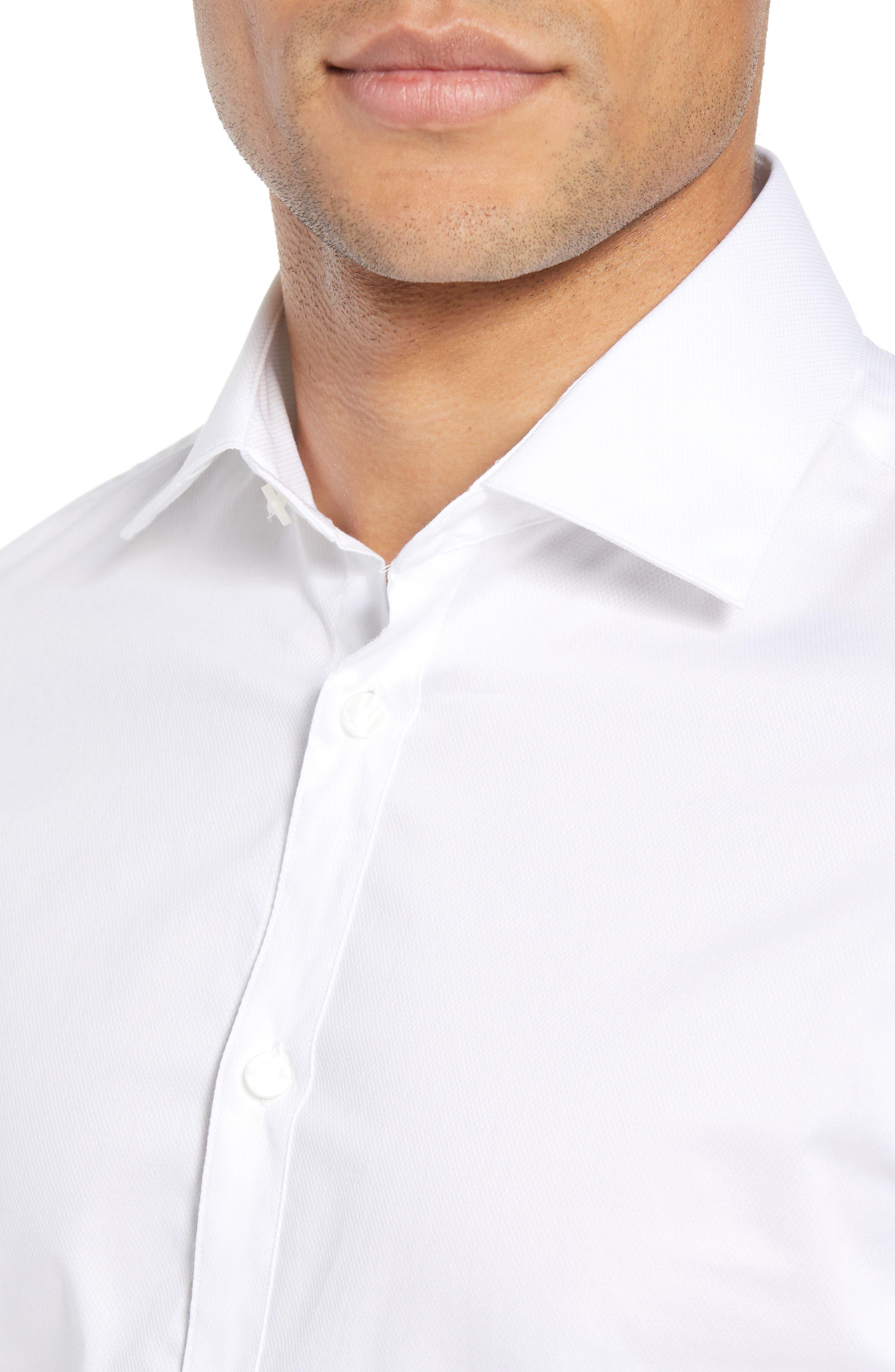 Slim Fit Tuxedo Shirt,                             Alternate thumbnail 2, color,                             WHITE