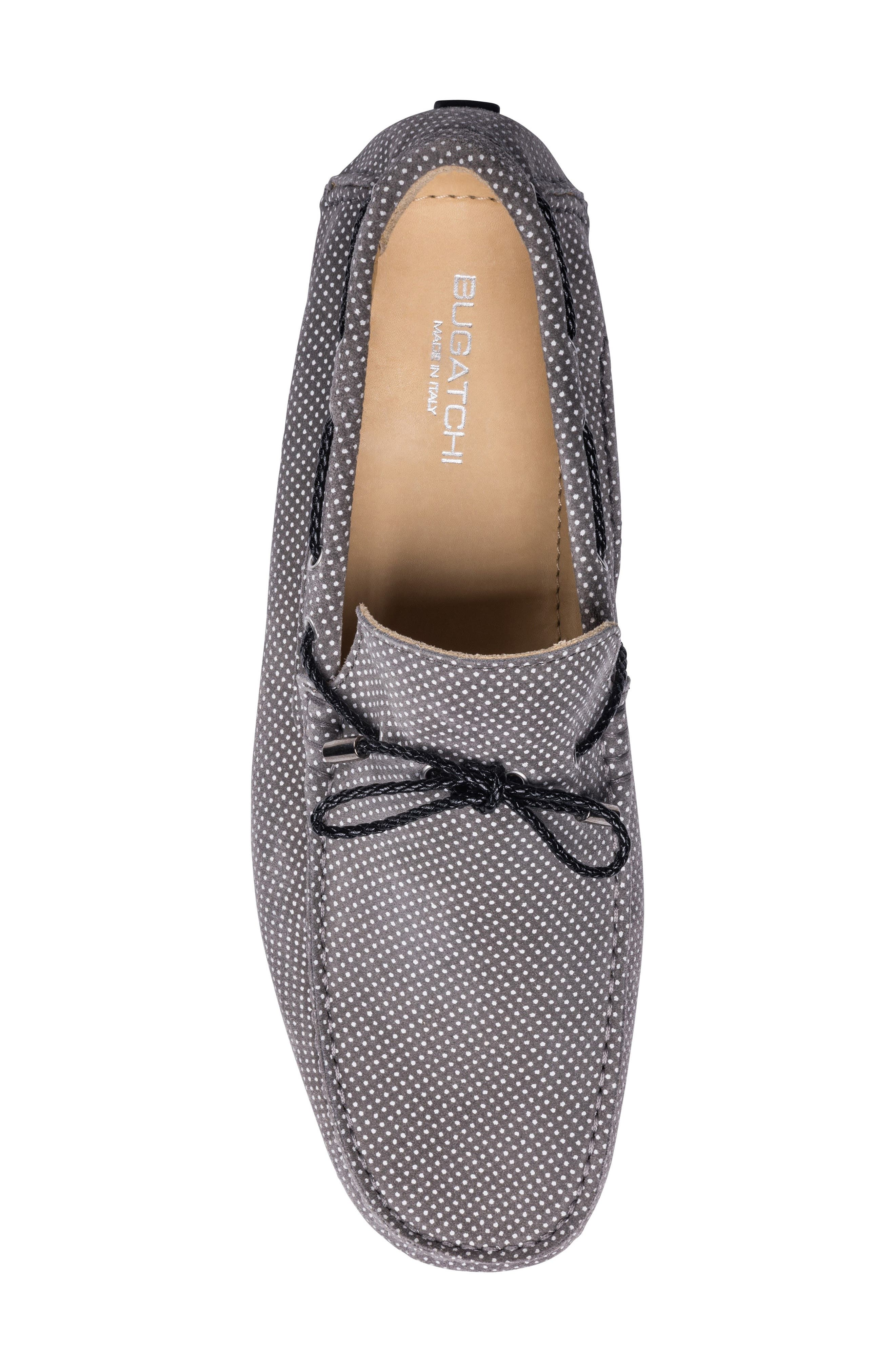 Sanremo Patterned Driving Loafer,                             Alternate thumbnail 5, color,                             GREY SUEDE
