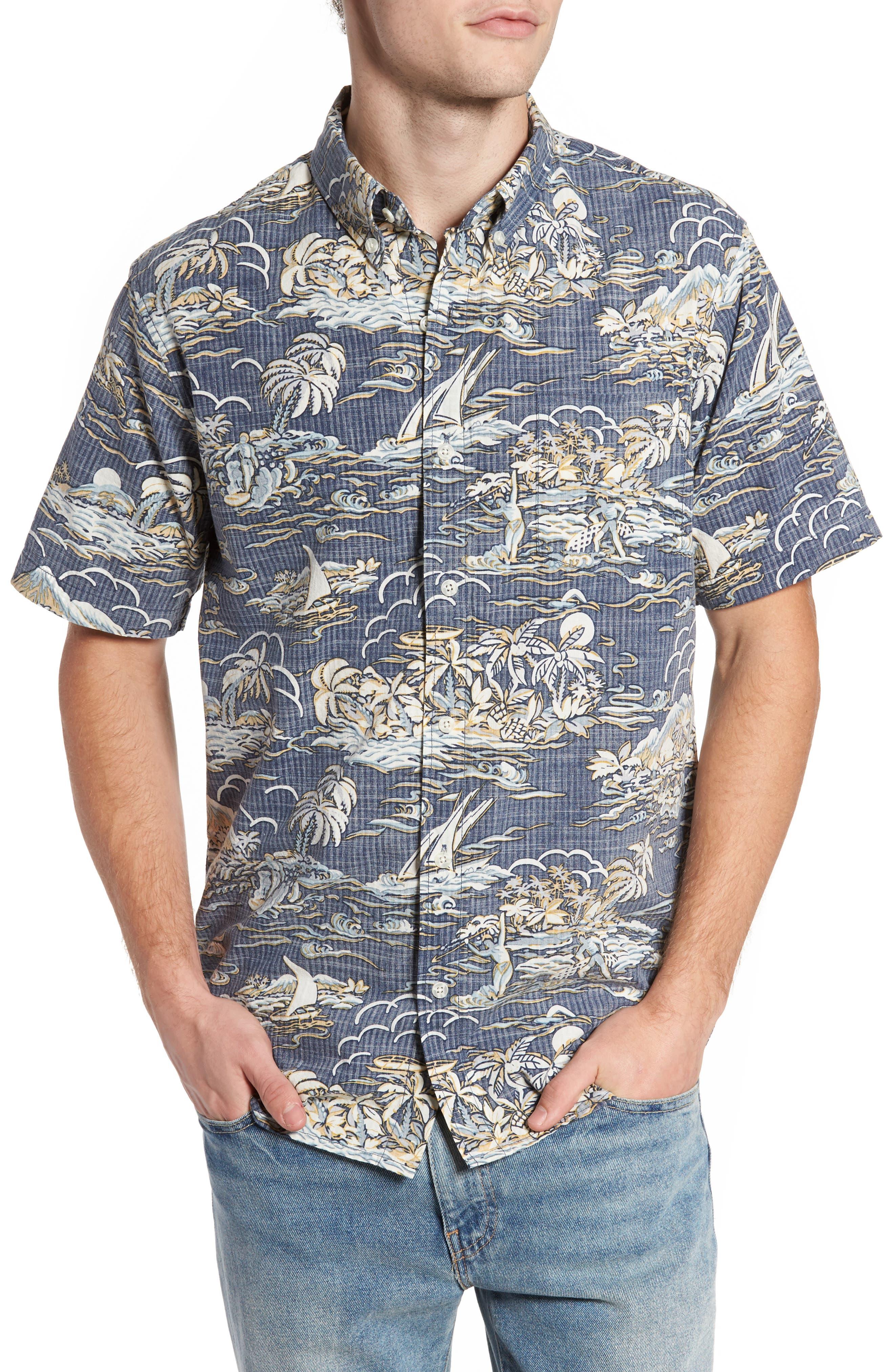 Laupakahi Modern Fit Print Shirt,                             Main thumbnail 1, color,                             410