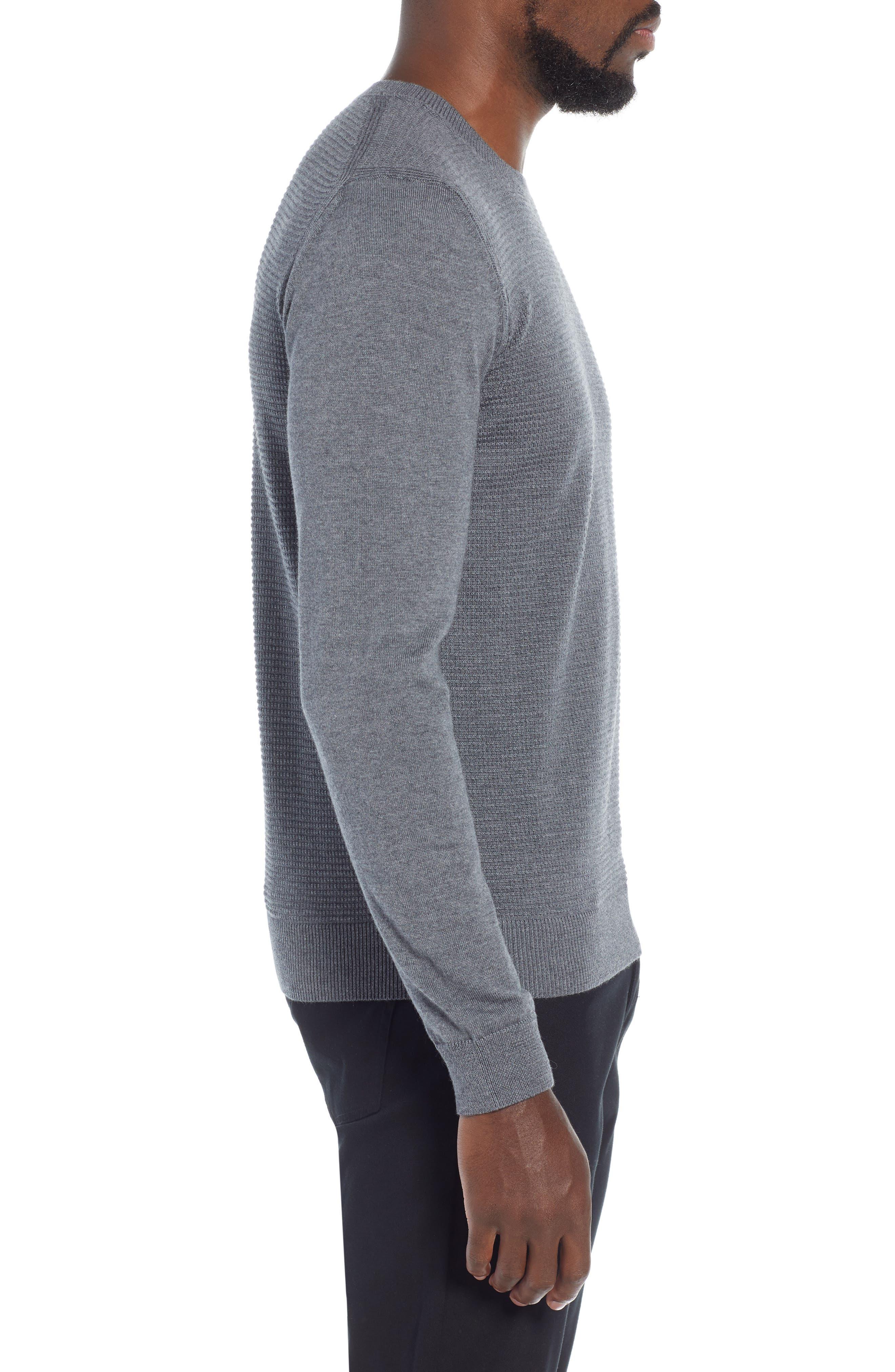 BOSS,                             Ellegri Regular Fit Wool Pullover,                             Alternate thumbnail 3, color,                             030