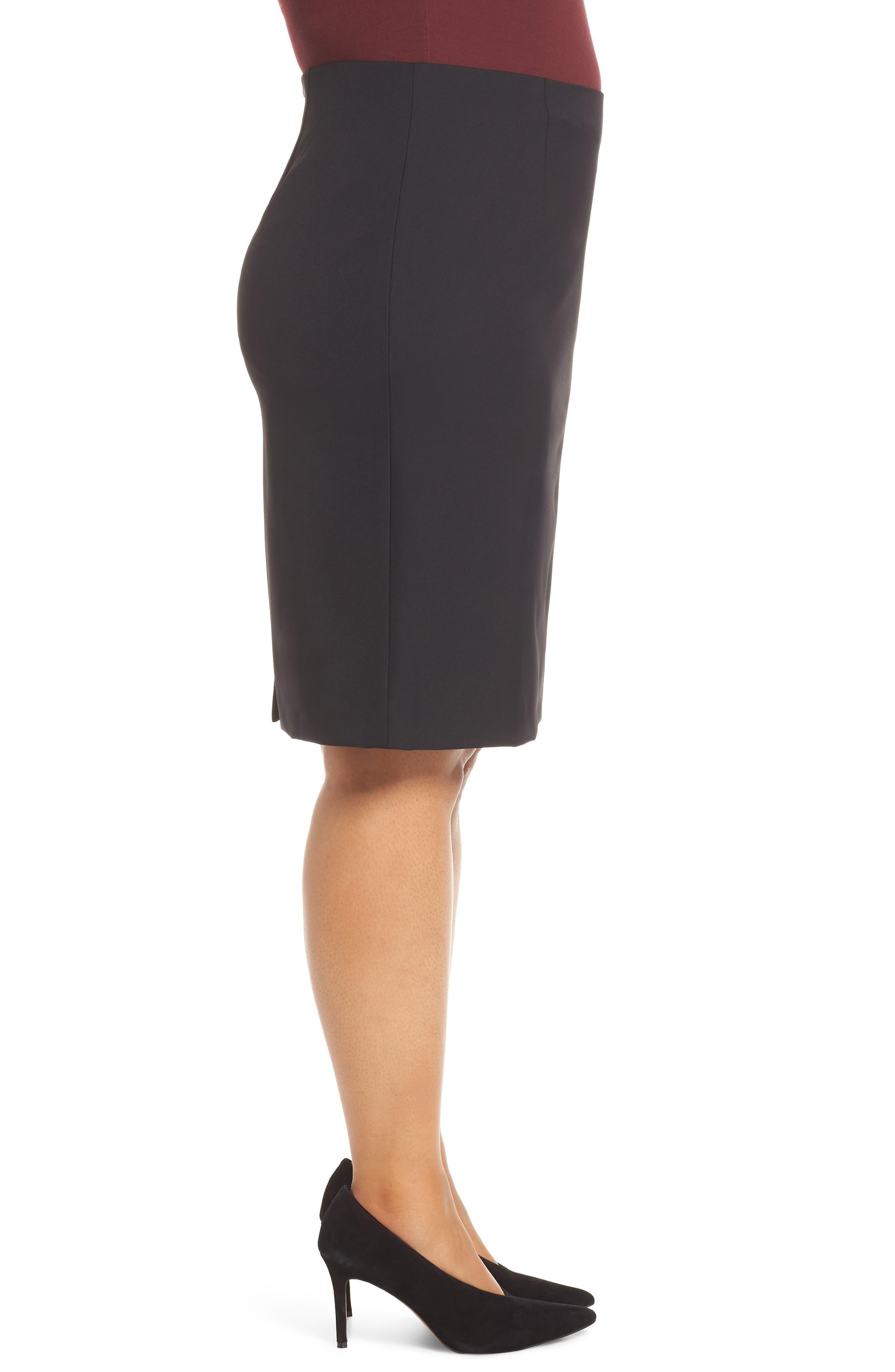 Pencil Skirt,                             Alternate thumbnail 9, color,                             BLACK