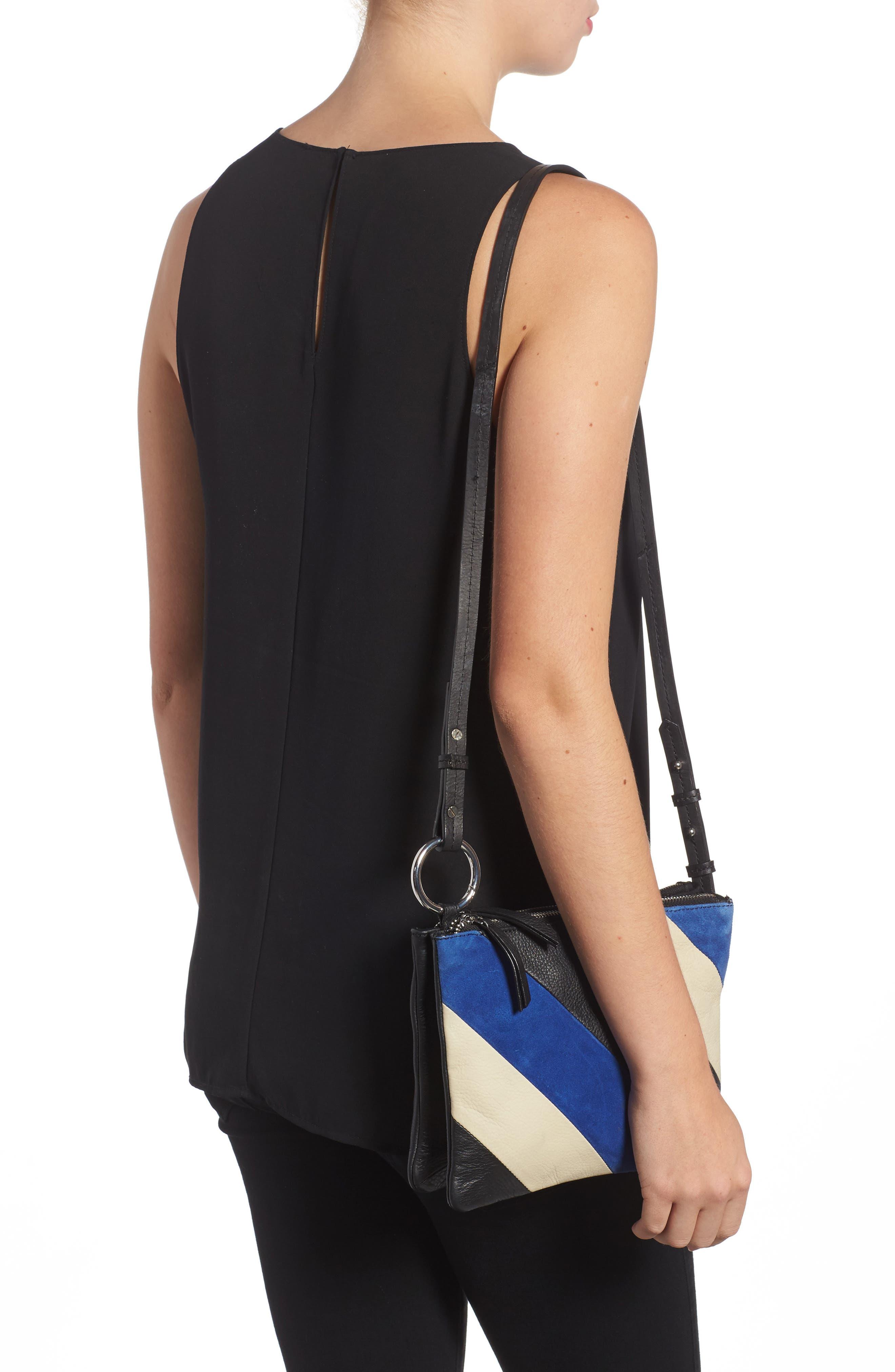 Premium Leather Bridget Crossbody Bag,                             Alternate thumbnail 2, color,                             001