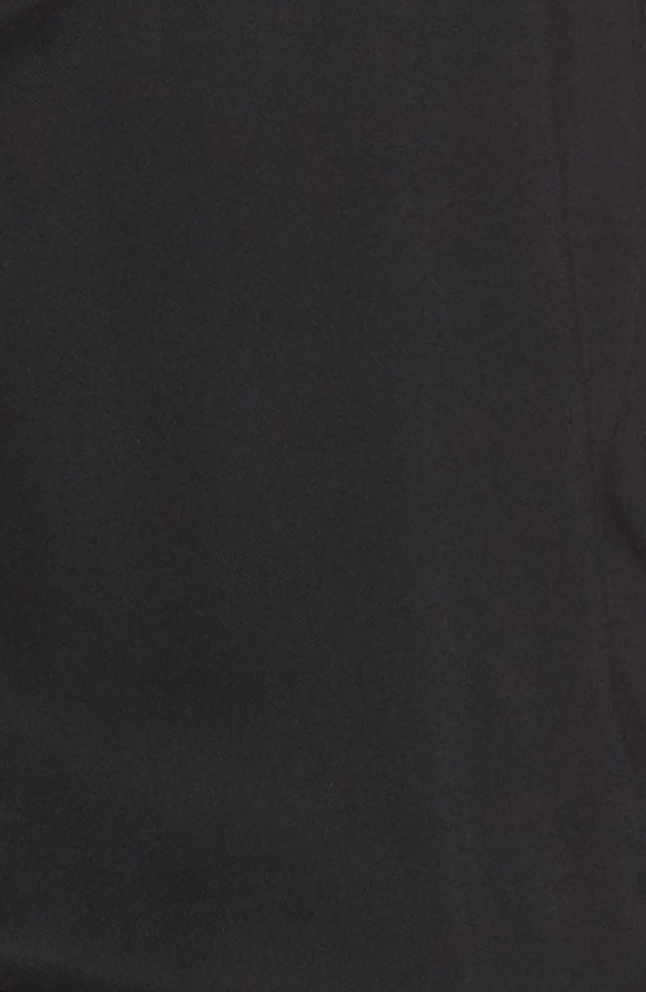 Paletta Ruffle Neck Jumpsuit,                             Alternate thumbnail 5, color,                             BLACK