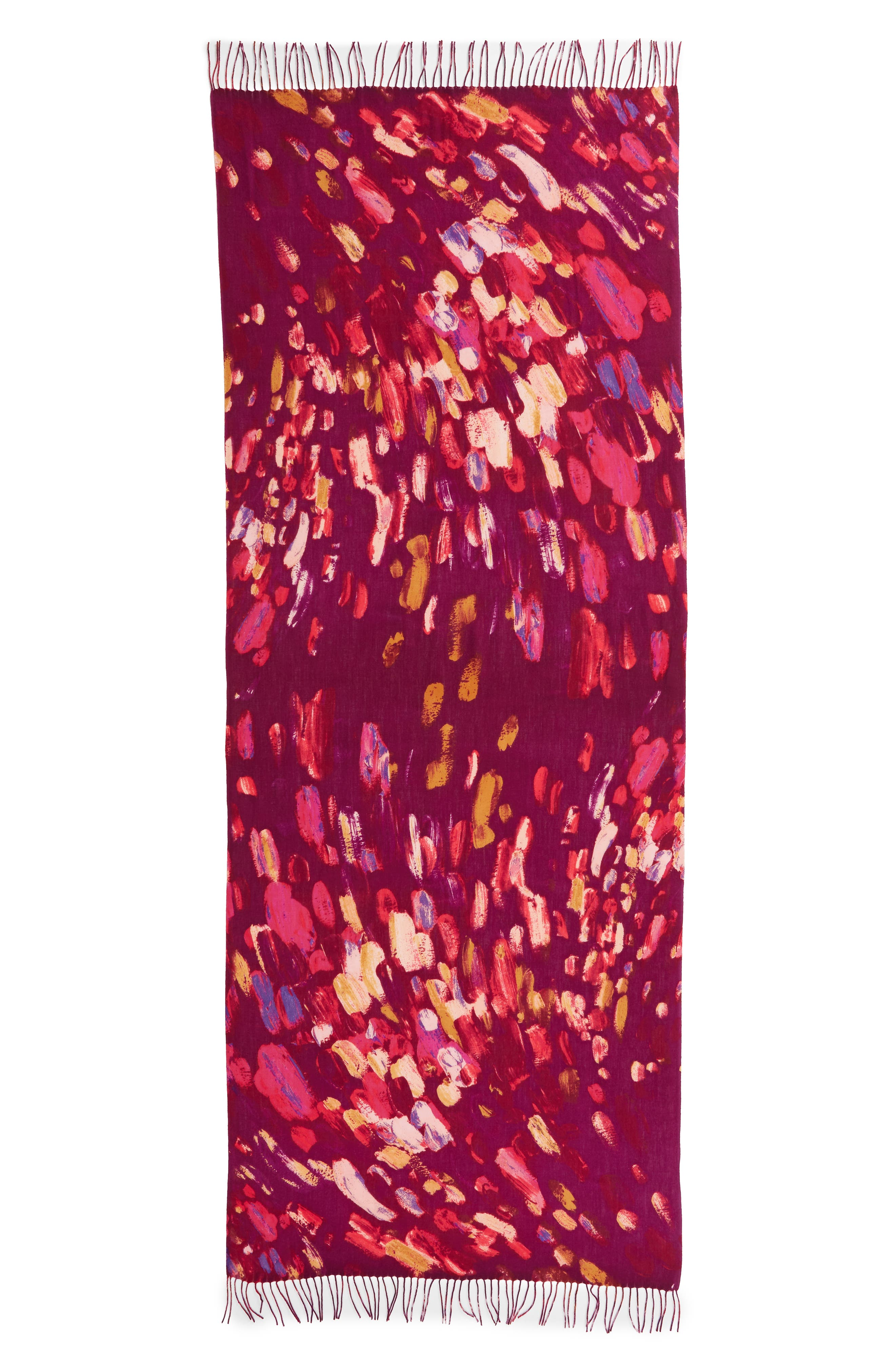 Tissue Print Wool & Cashmere Wrap Scarf,                             Alternate thumbnail 64, color,