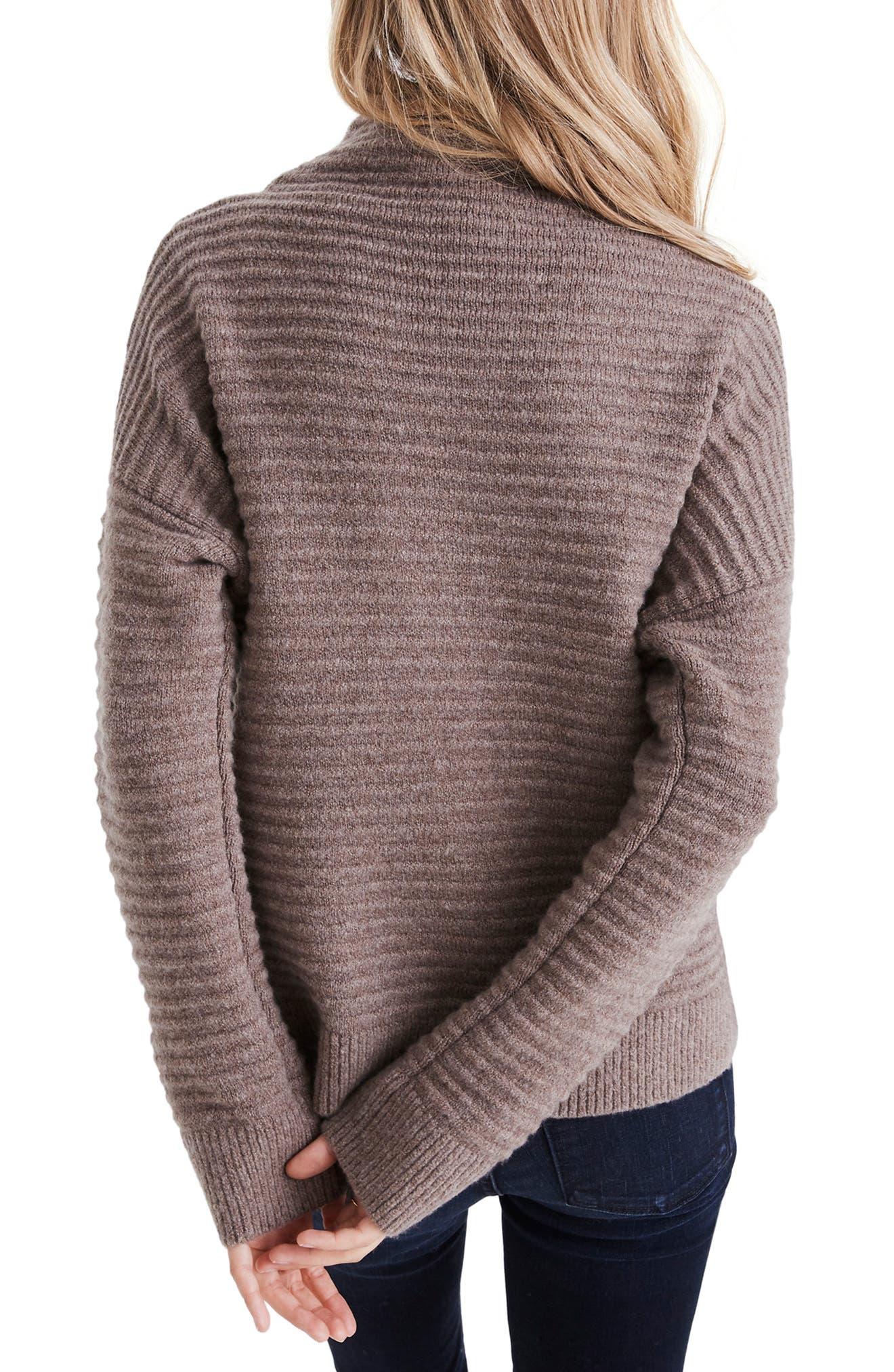 Belmont Mock Neck Sweater,                             Alternate thumbnail 2, color,                             HEATHER ROOT
