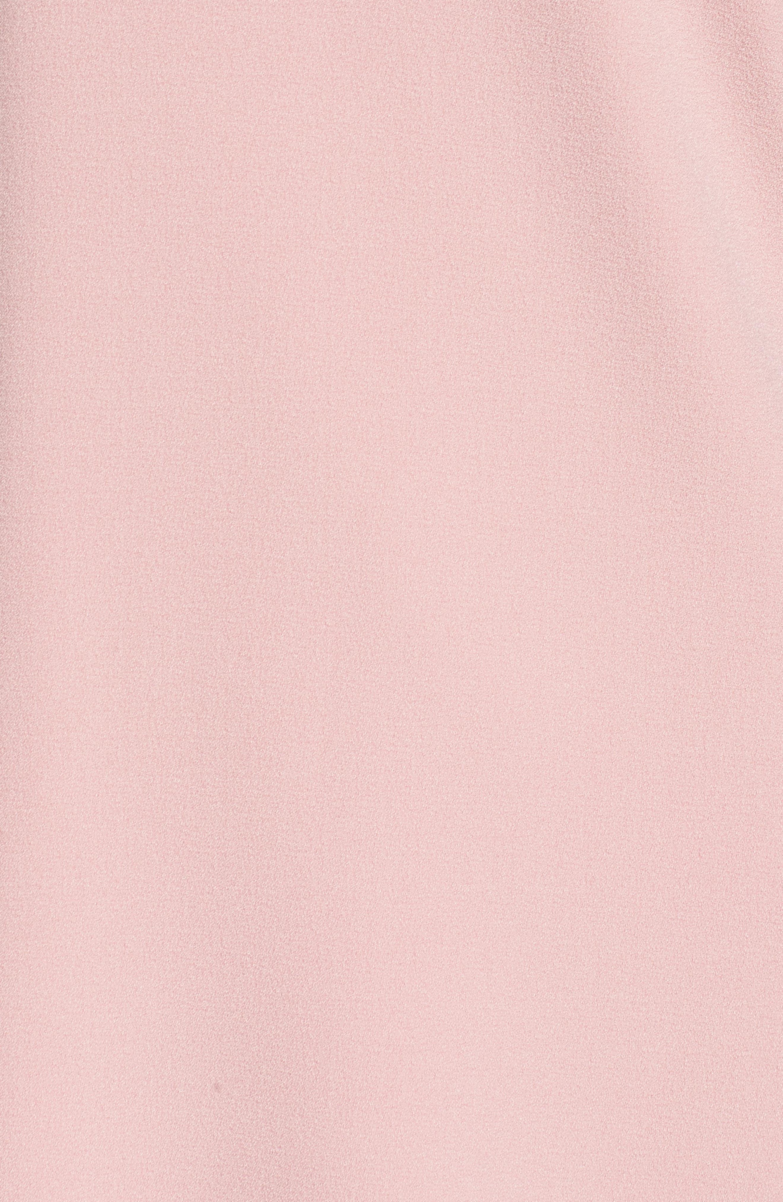 Bell Sleeve Crepe Shift Dress,                             Alternate thumbnail 21, color,