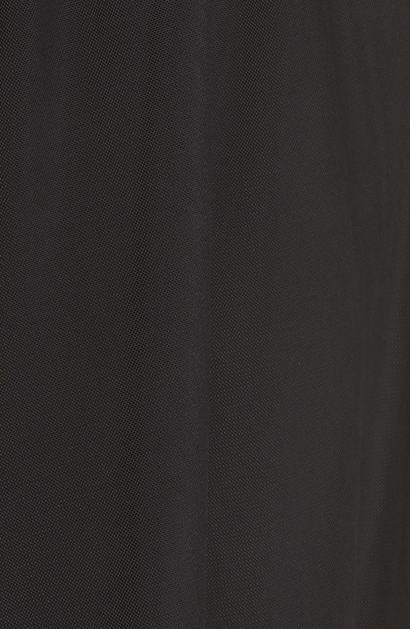 Side Tie Mesh Overlay Maxi Skirt,                             Alternate thumbnail 6, color,