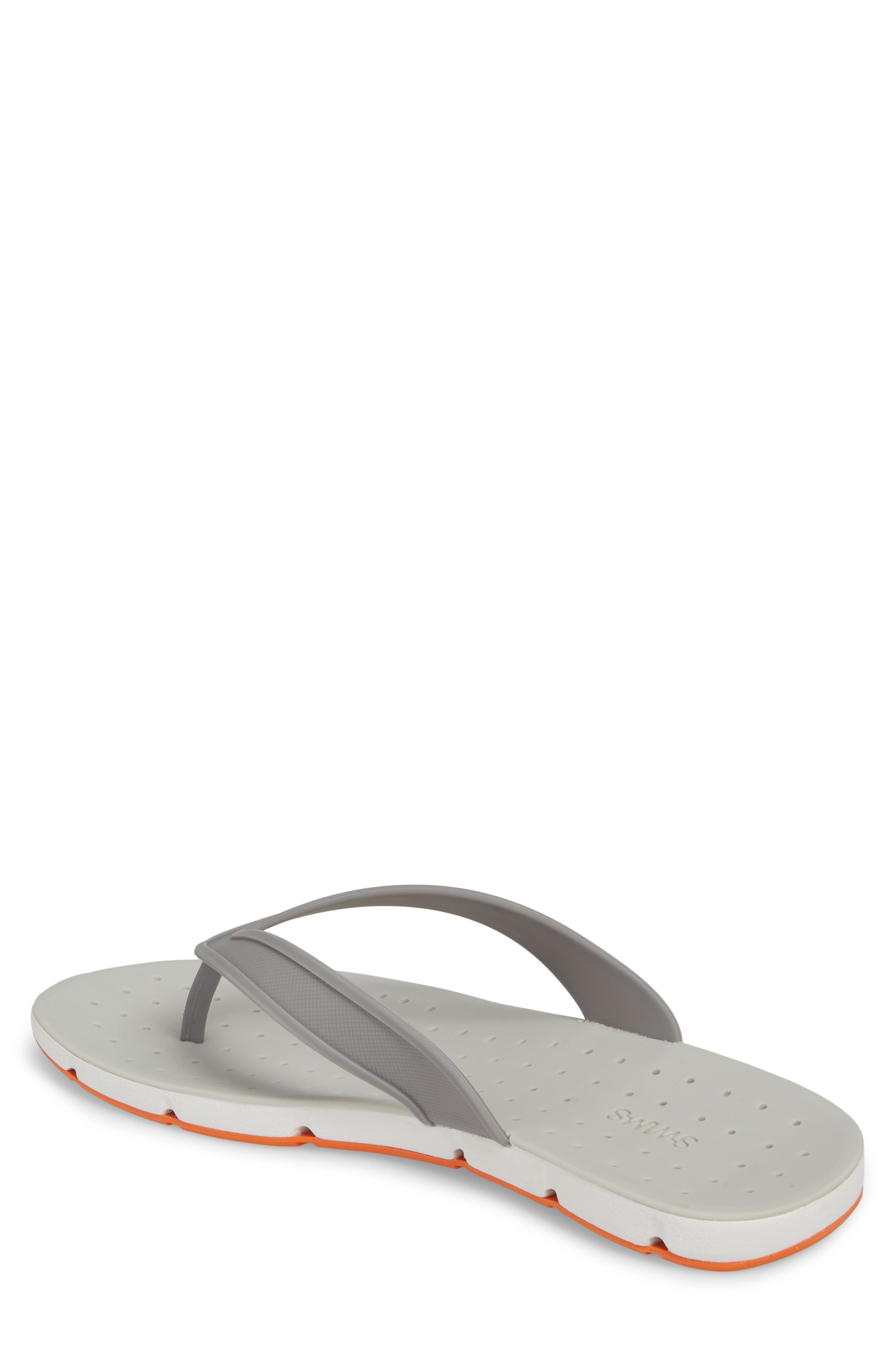 Breeze Flip Flop,                             Alternate thumbnail 2, color,                             GRAY / WHITE / ORANGE