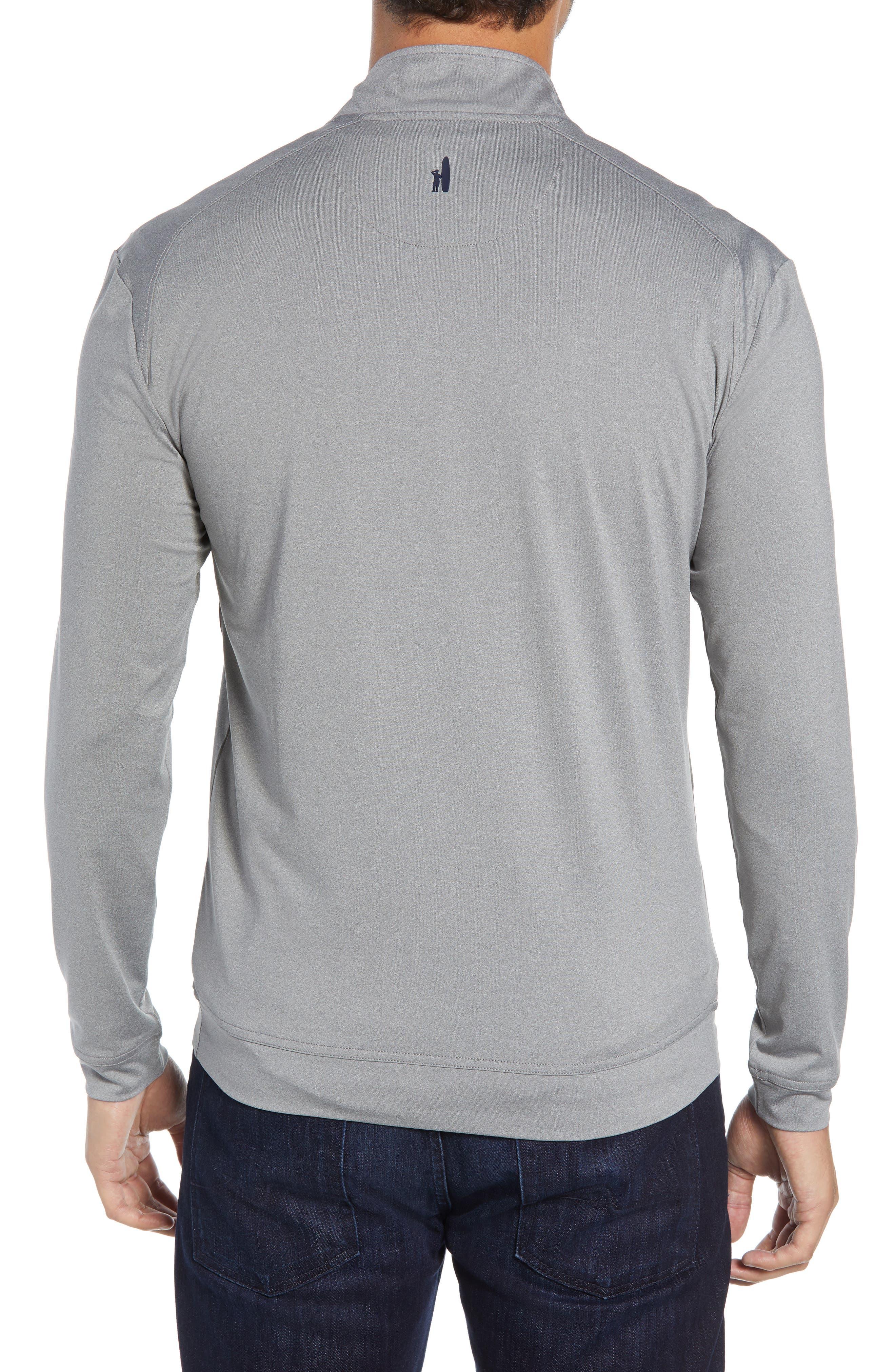 Flex Classic Fit Quarter Zip Pullover,                             Alternate thumbnail 2, color,                             METEOR