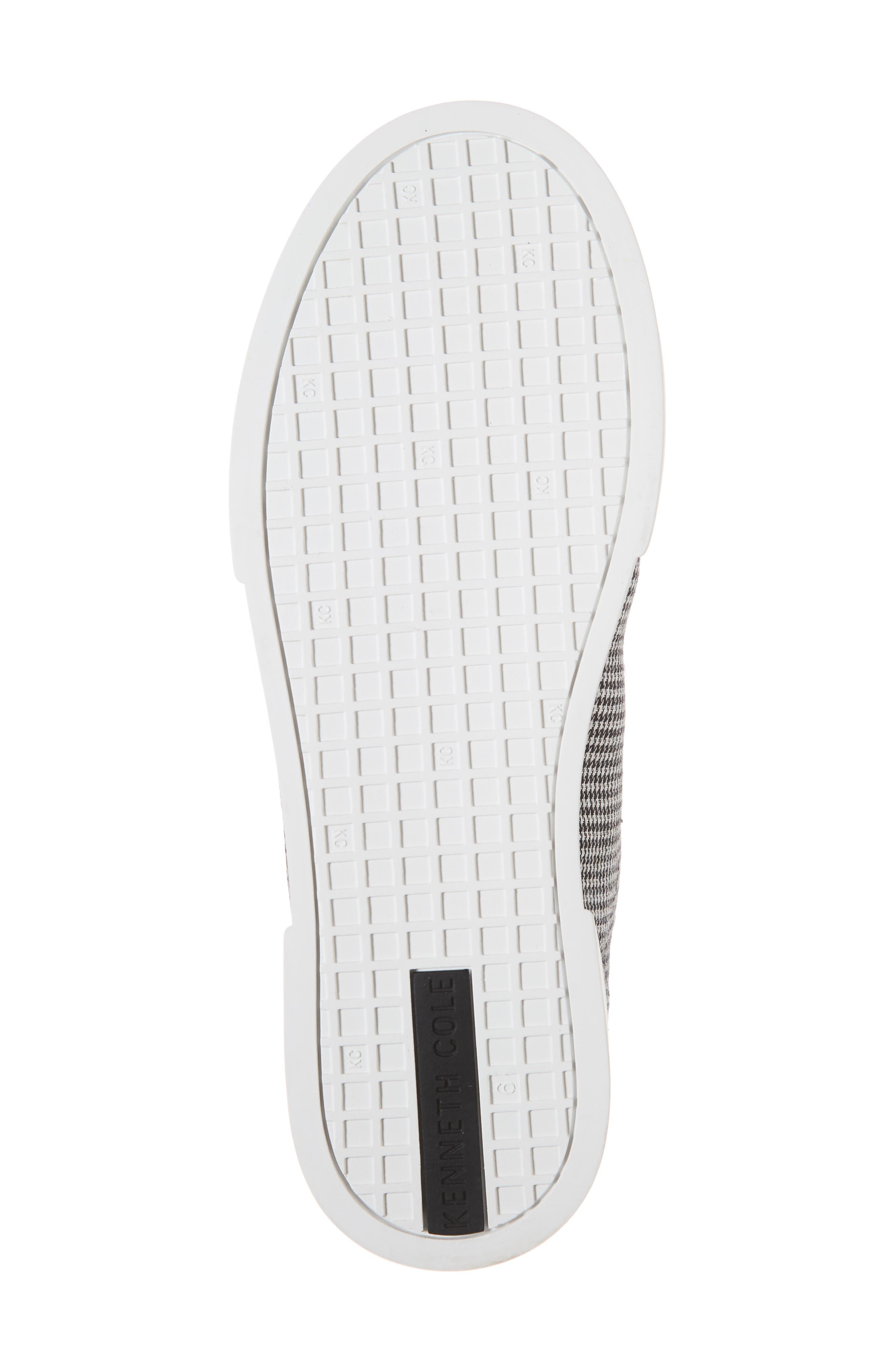 Tyler Sneaker,                             Alternate thumbnail 6, color,                             BLACK/ WHITE FABRIC