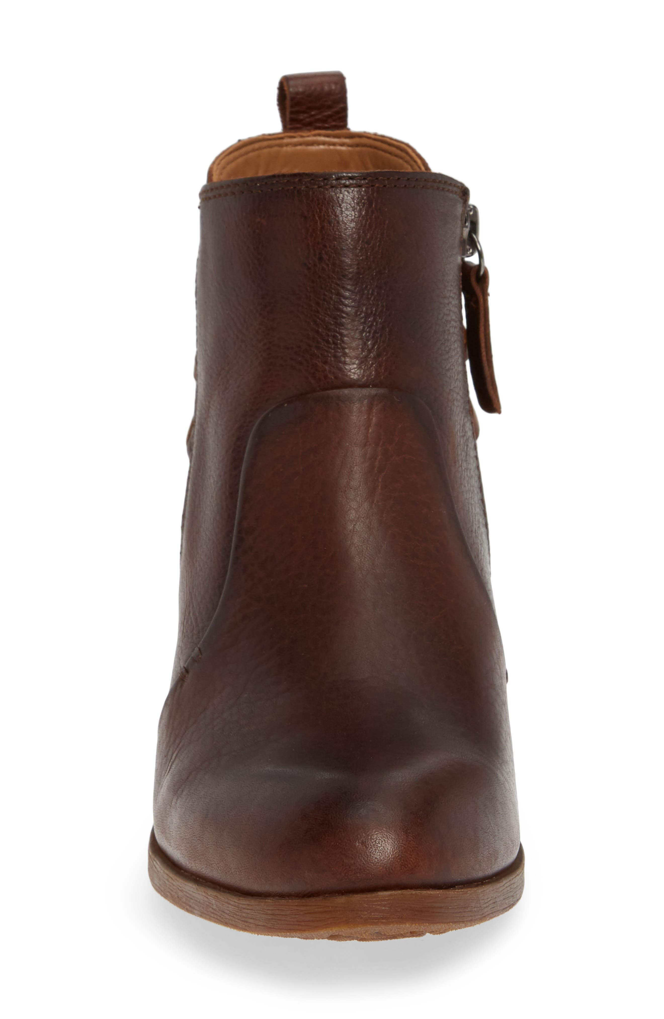 Kinsley Bootie,                             Alternate thumbnail 4, color,                             WHISKEY/ ALMOND