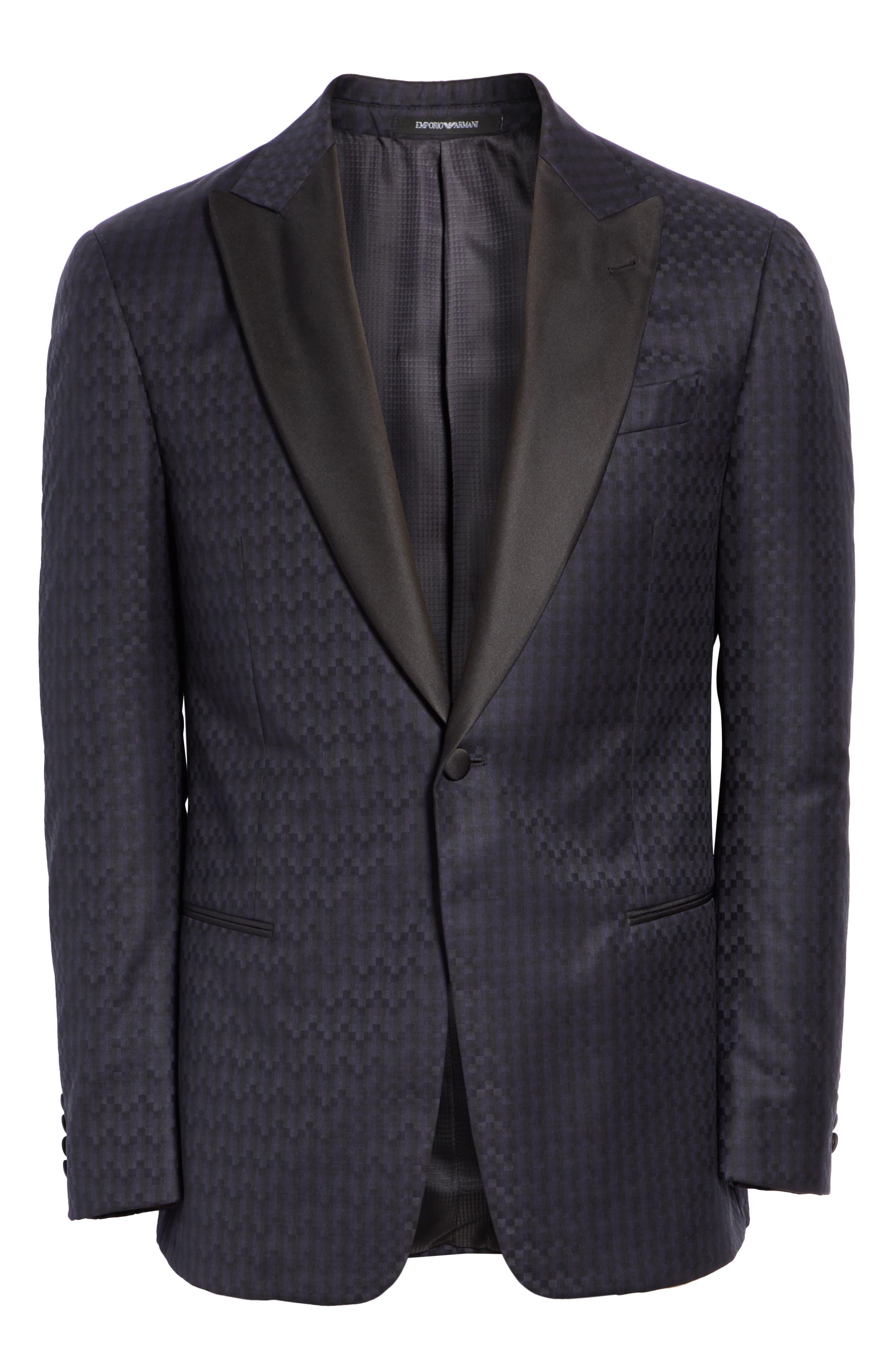 G-Line Trim Fit Wool Dinner Jacket,                             Alternate thumbnail 5, color,                             MIDNIGHT