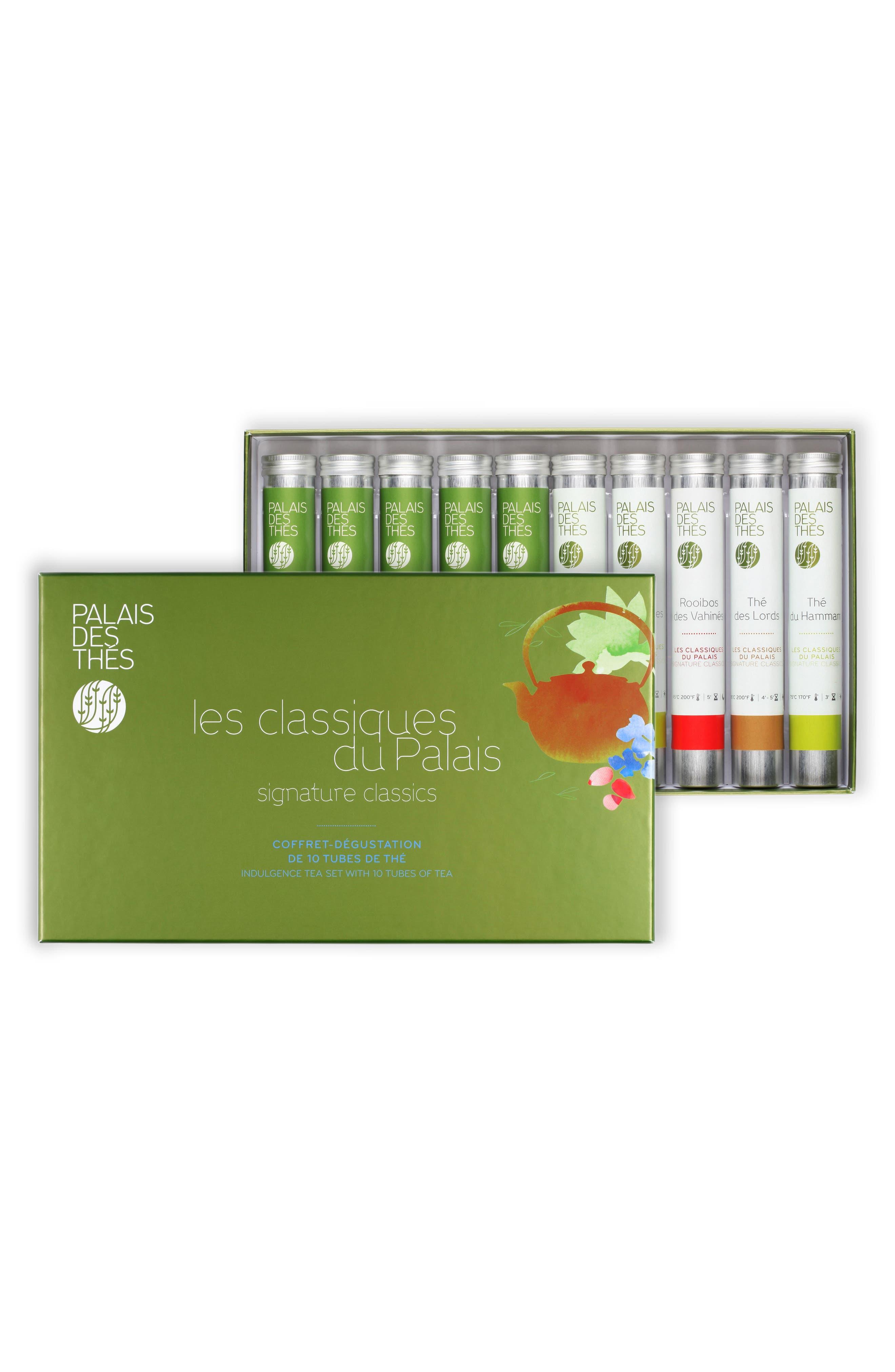 Signature Classics 10 Vial Loose Tea Tasting Set,                             Main thumbnail 1, color,                             SIGNATURE CLASSICS