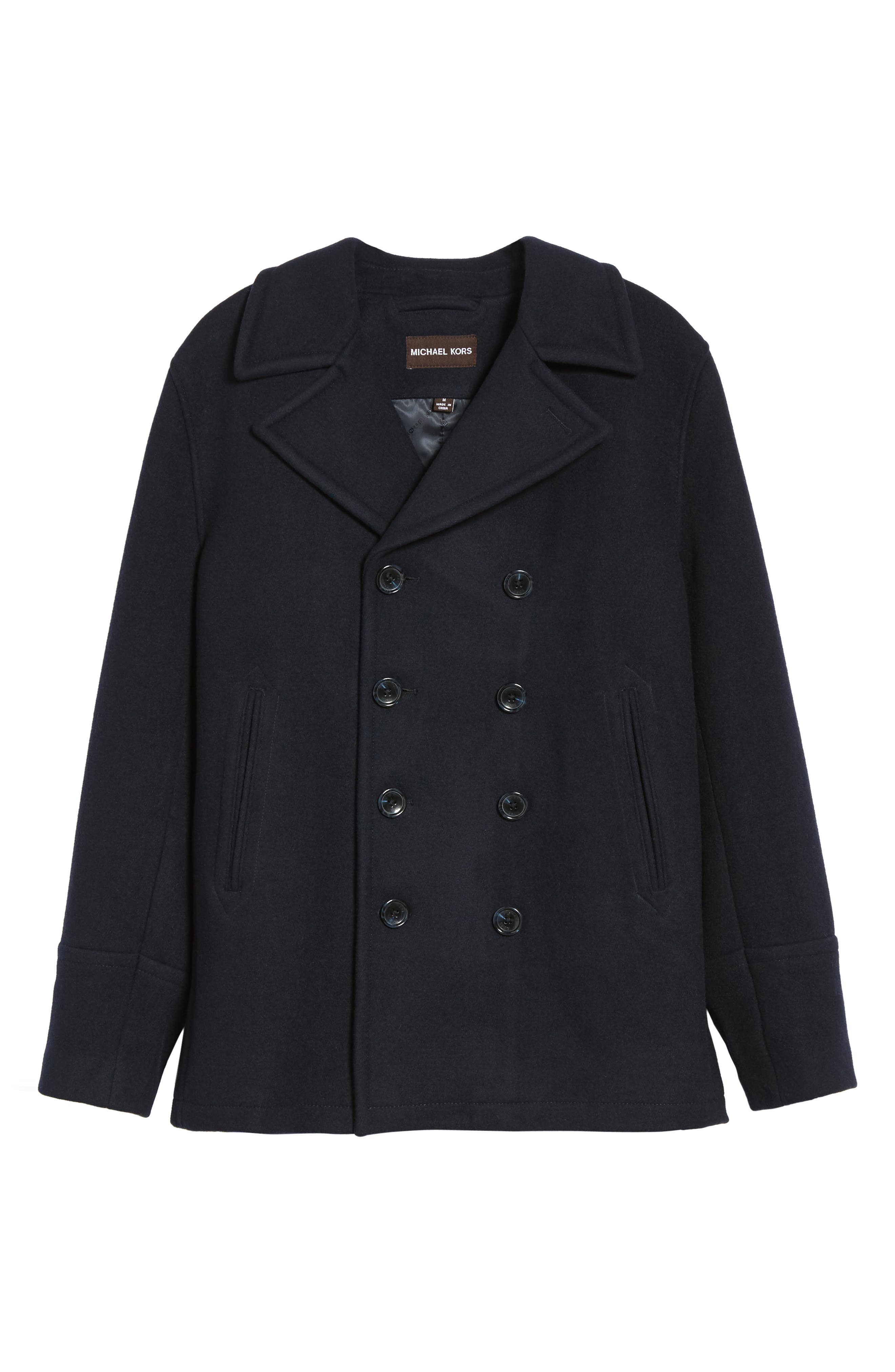Wool Blend Double Breasted Peacoat,                             Alternate thumbnail 88, color,
