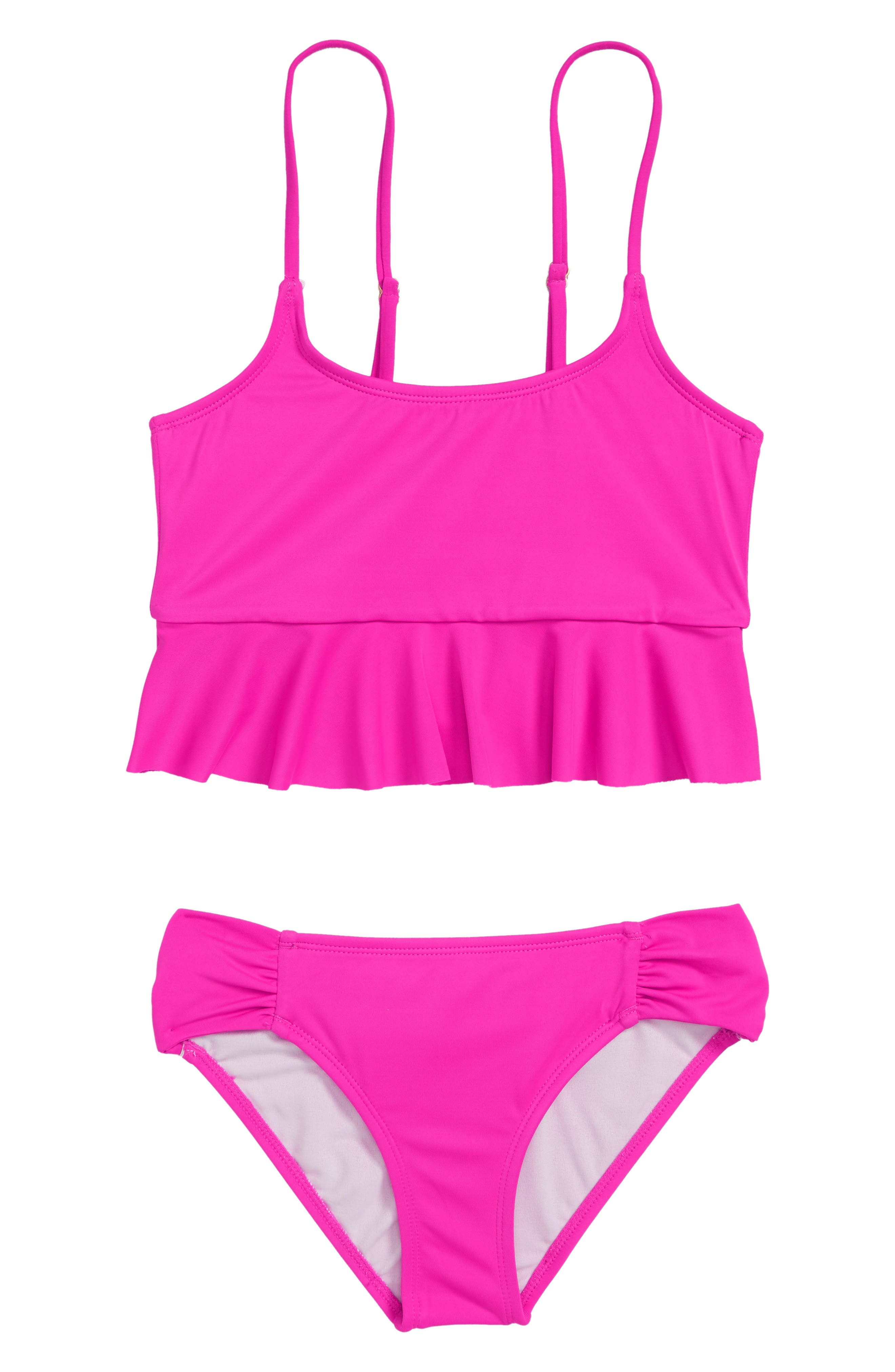 Sol Searcher Two-Piece Swimsuit,                             Main thumbnail 1, color,                             REBEL PINK