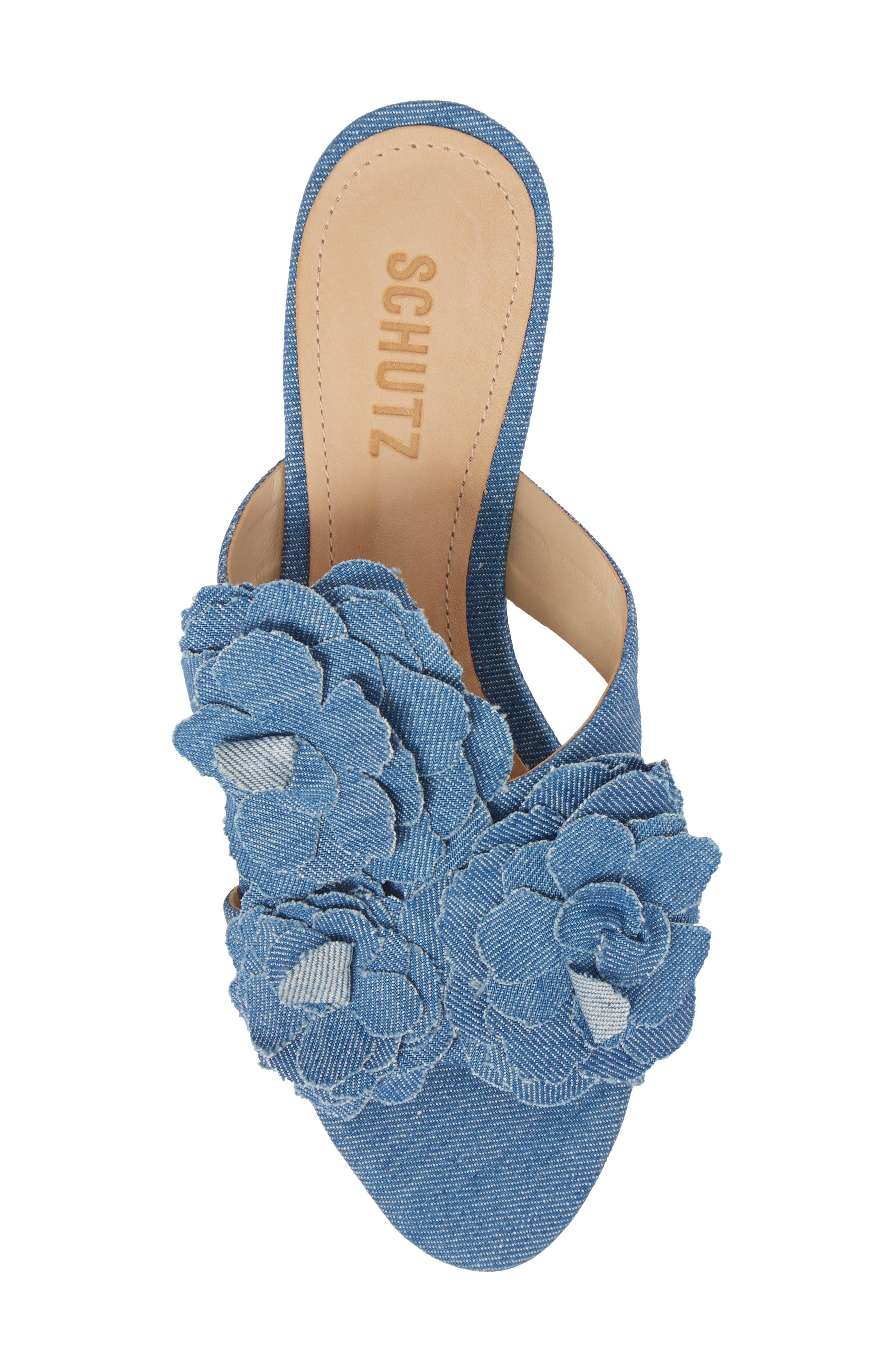 Ilaria Flower Sandal,                             Alternate thumbnail 5, color,                             LIGHT BLUE