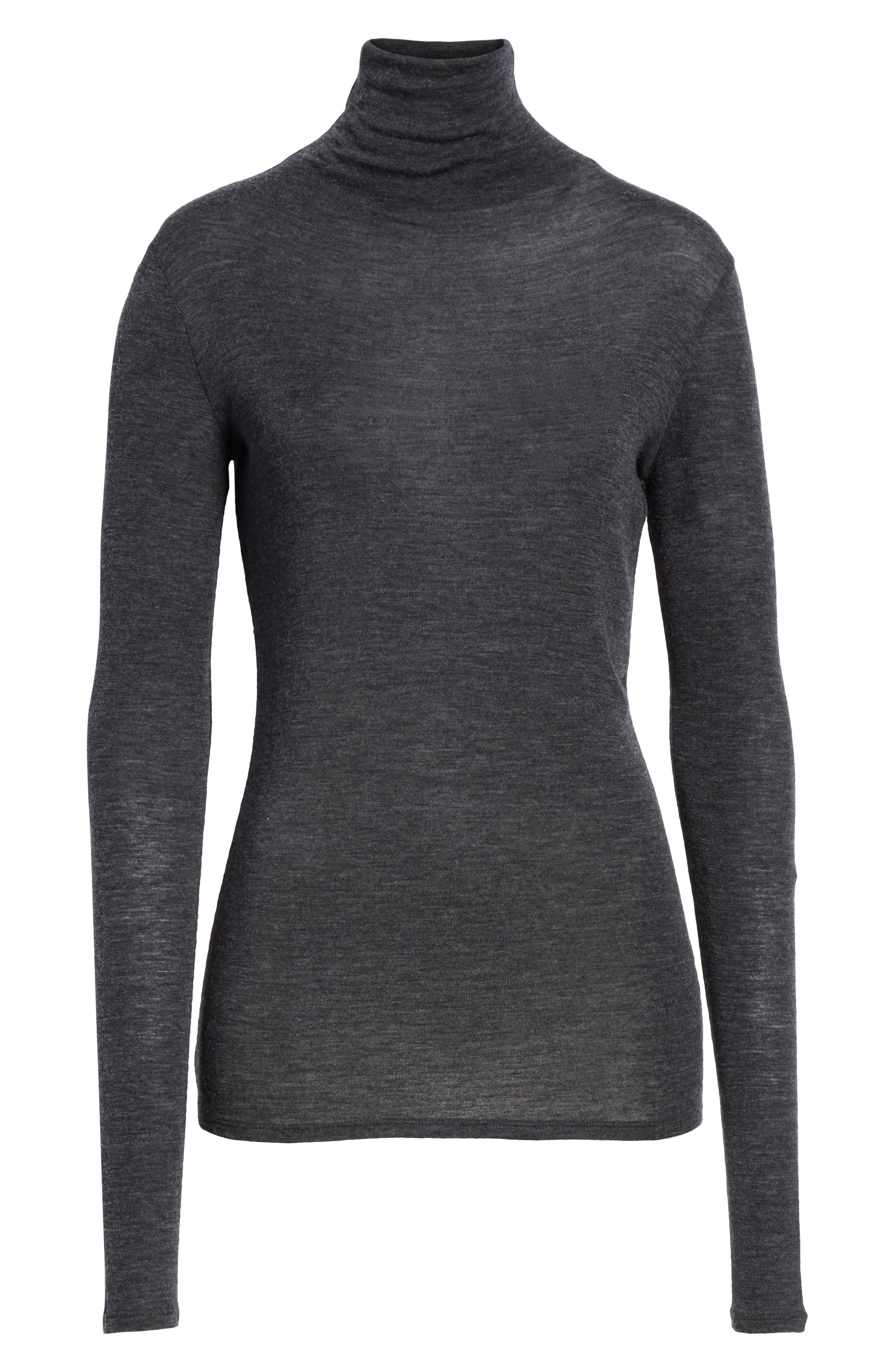 Wool Turtleneck Top,                             Alternate thumbnail 6, color,                             065