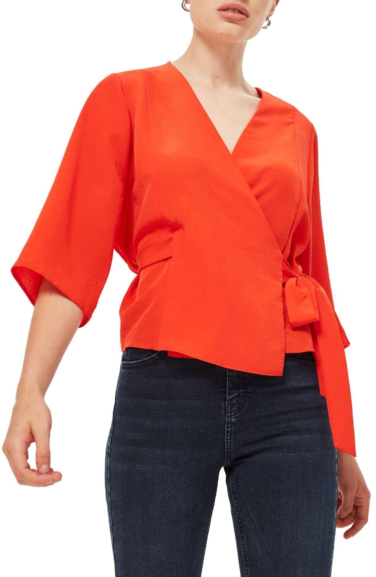 Kimono Wrap Blouse,                         Main,                         color, 600