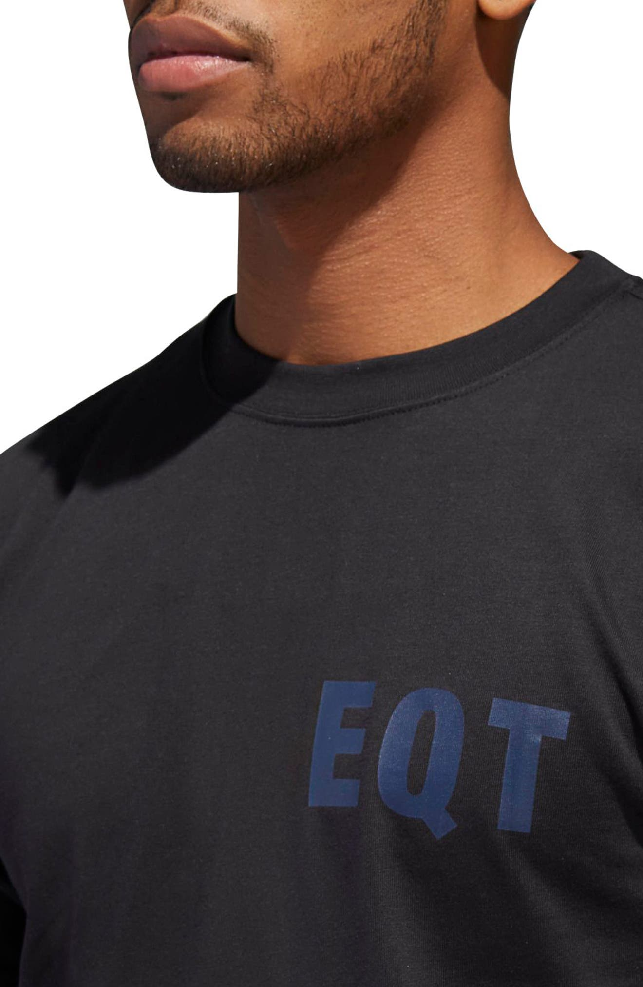 adidas EQT Panel Crewneck T-Shirt,                             Alternate thumbnail 4, color,                             BLACK