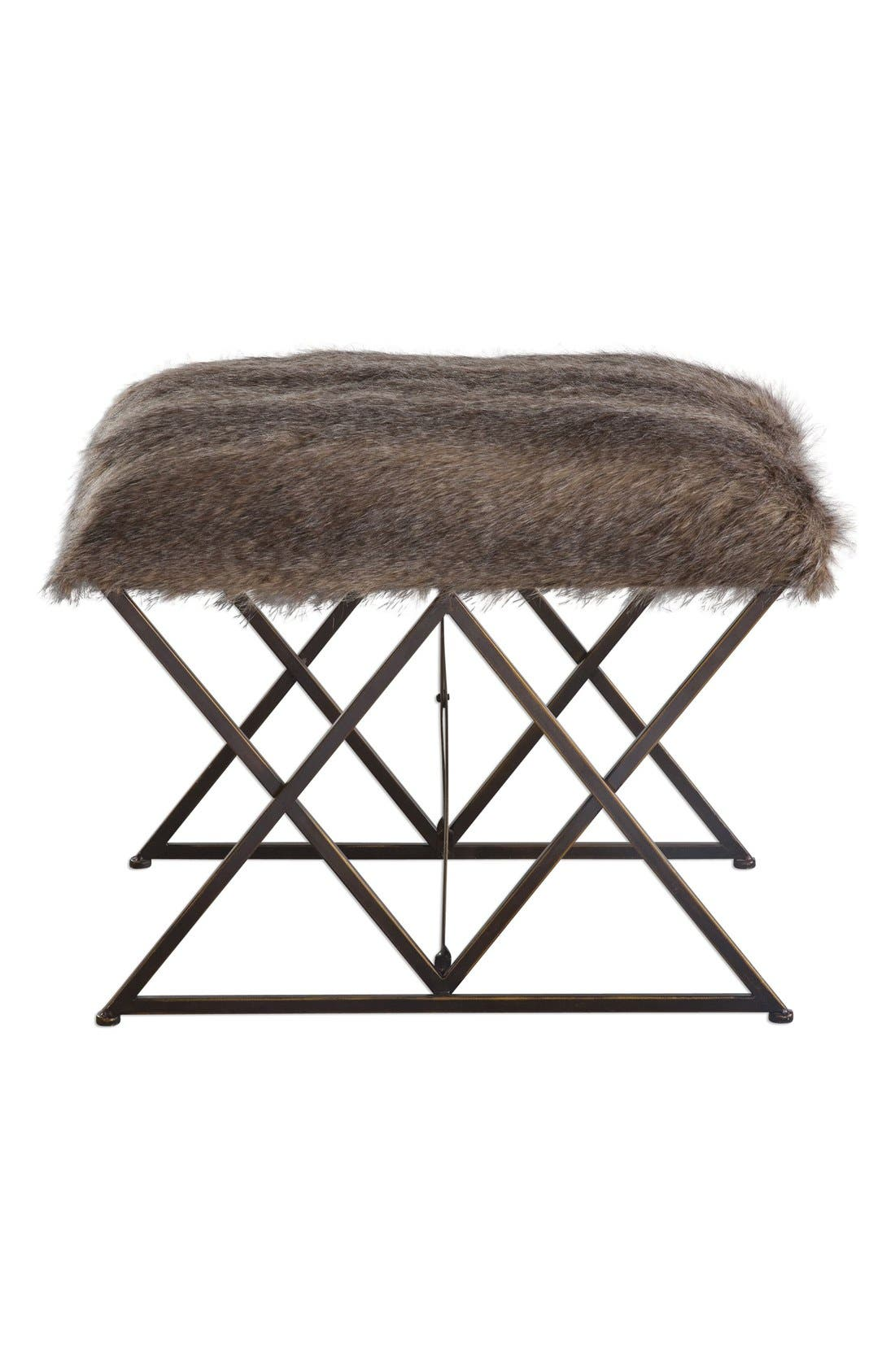 'Brannen' Faux Fur Bench,                         Main,                         color,