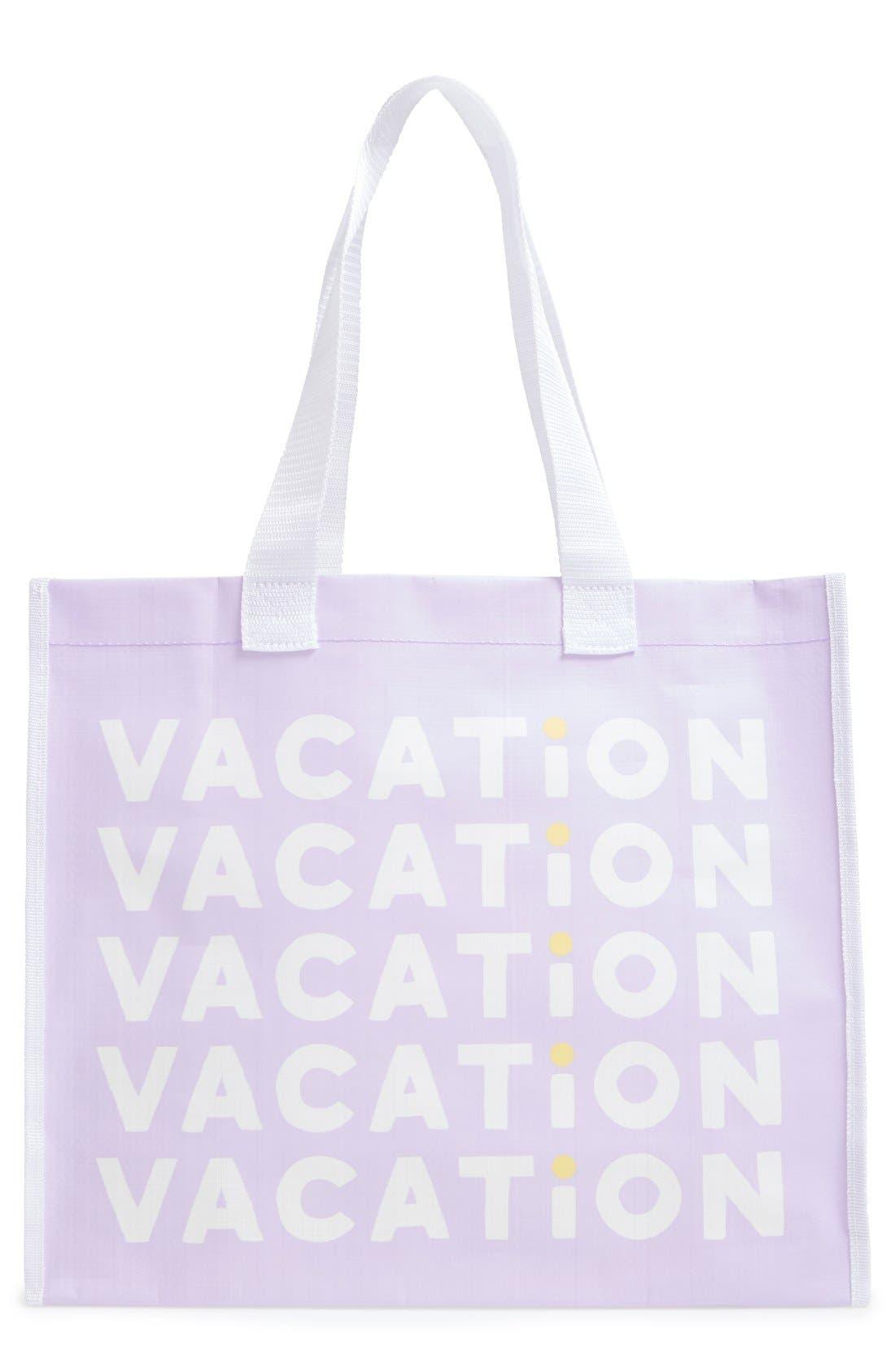 'Vacation' Tote Bag,                             Main thumbnail 1, color,                             500
