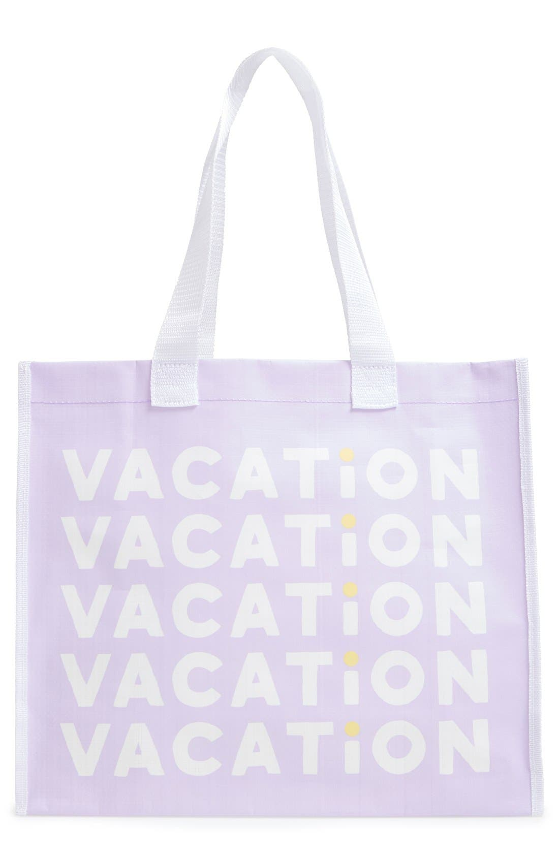 'Vacation' Tote Bag, Main, color, 500
