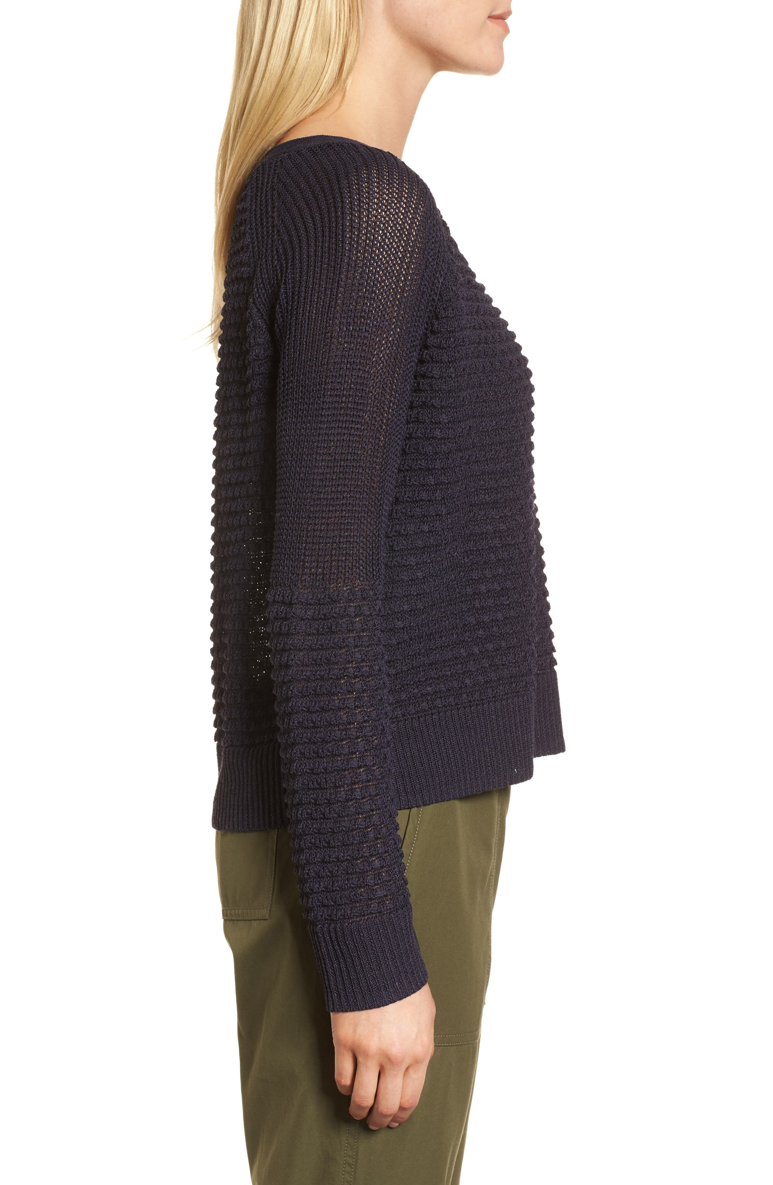 Mixed Stitch Sweater,                             Alternate thumbnail 3, color,                             410