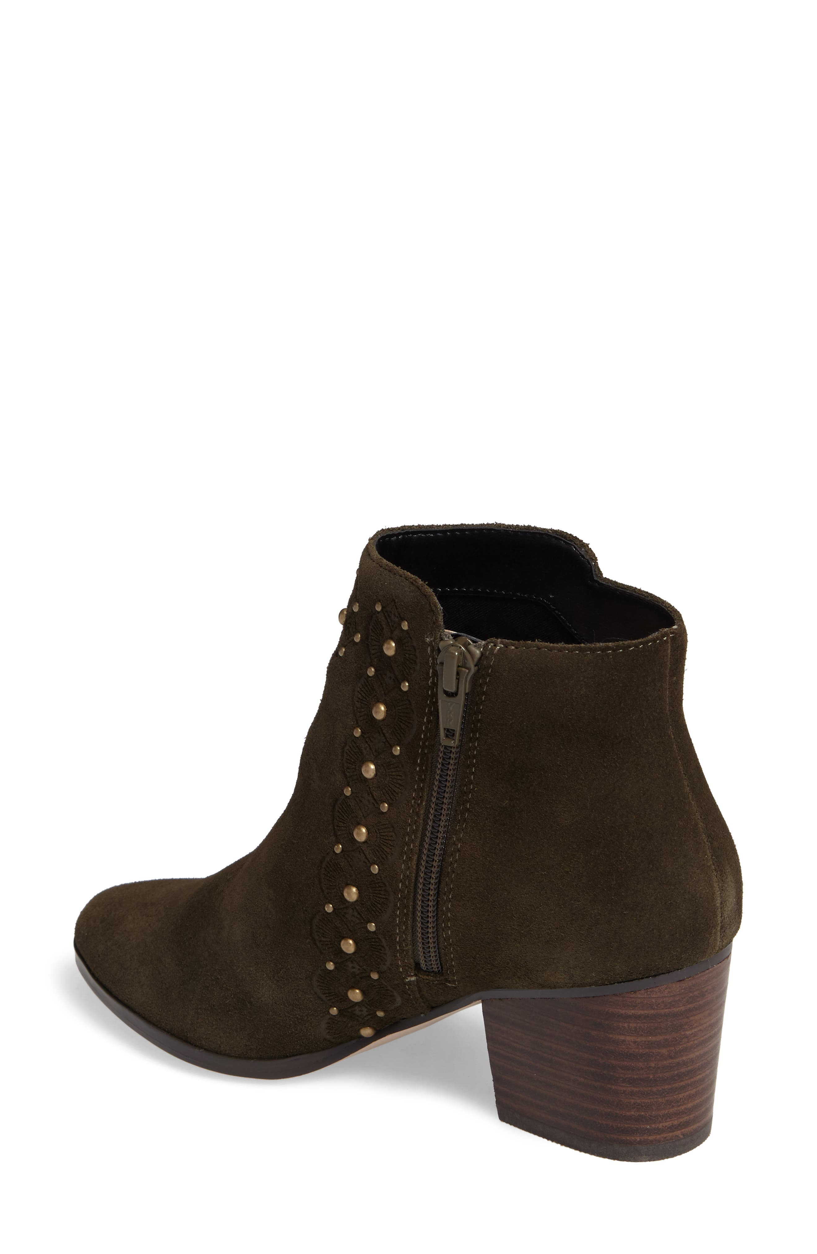 Gala Studded Embossed Bootie,                             Alternate thumbnail 6, color,