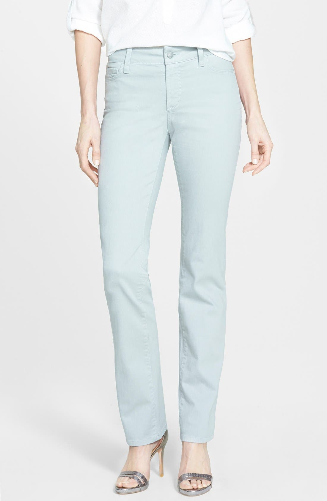 'Marilyn' Stretch Straight Leg Jeans,                         Main,                         color, 020
