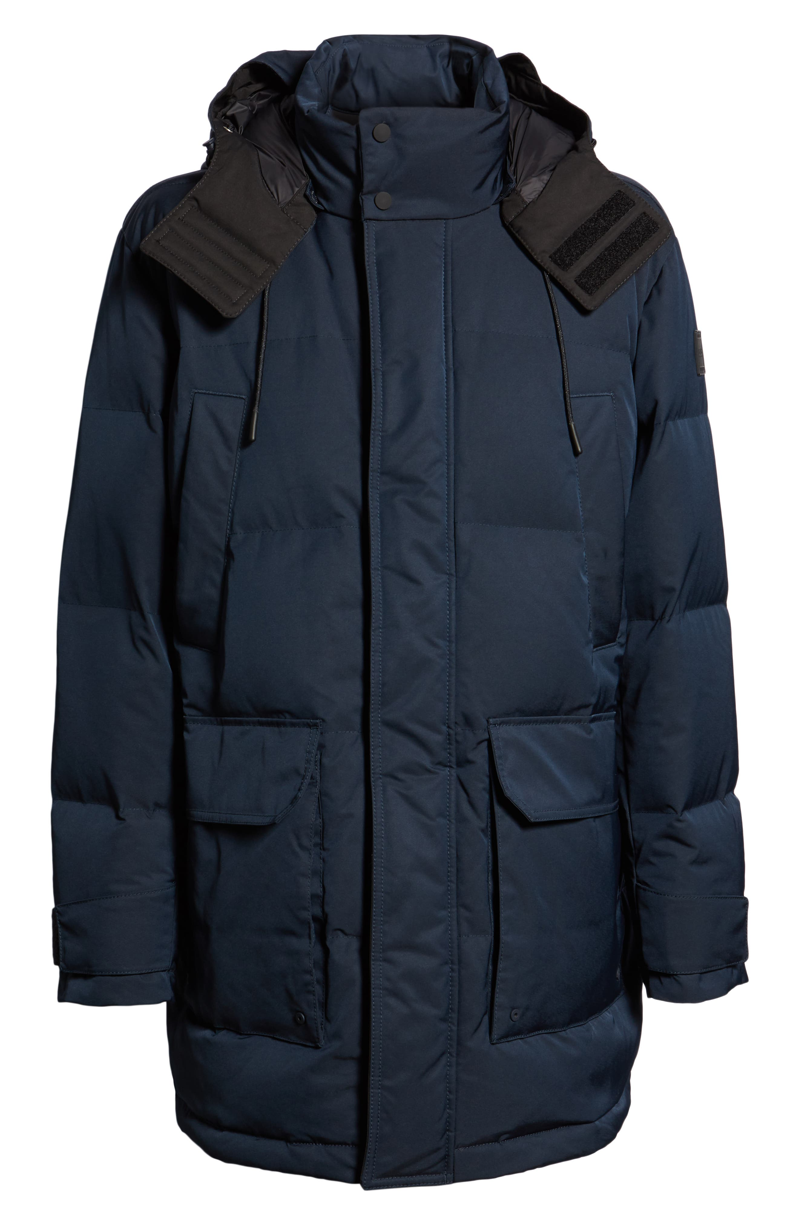 Onek Regular Fit Twill Puffer Jacket,                             Alternate thumbnail 6, color,                             BLUE