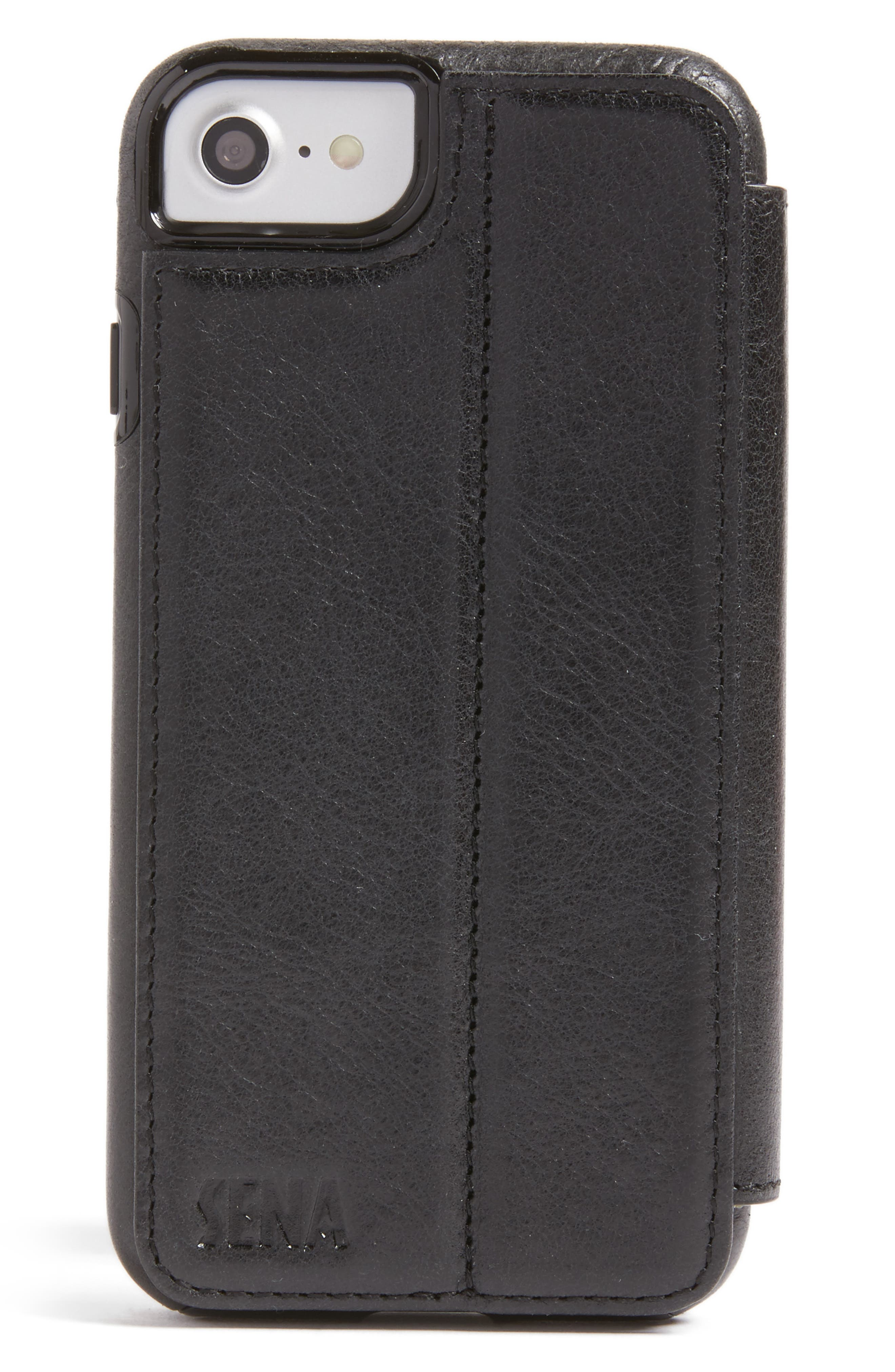 iPhone 7/8 Leather Wallet Case,                             Alternate thumbnail 4, color,                             005