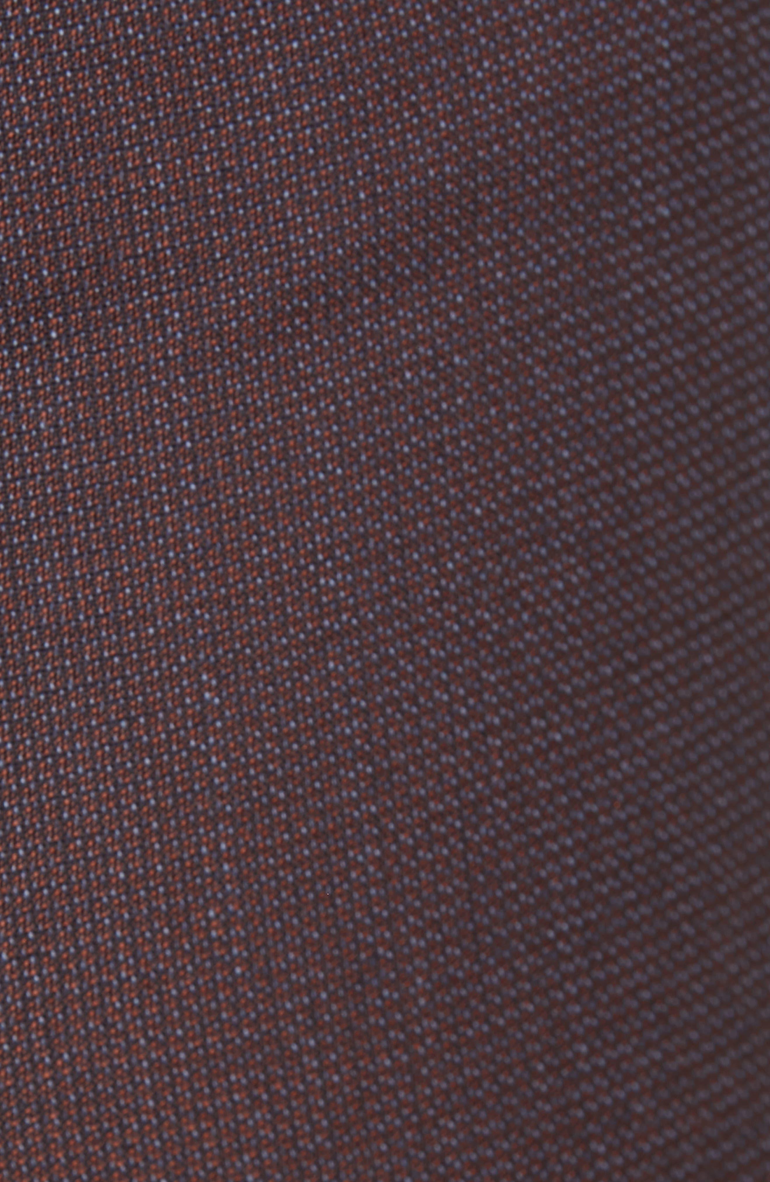 Tamea Slim Wool Suit Pants,                             Alternate thumbnail 6, color,                             DARK BERRY FANTASY
