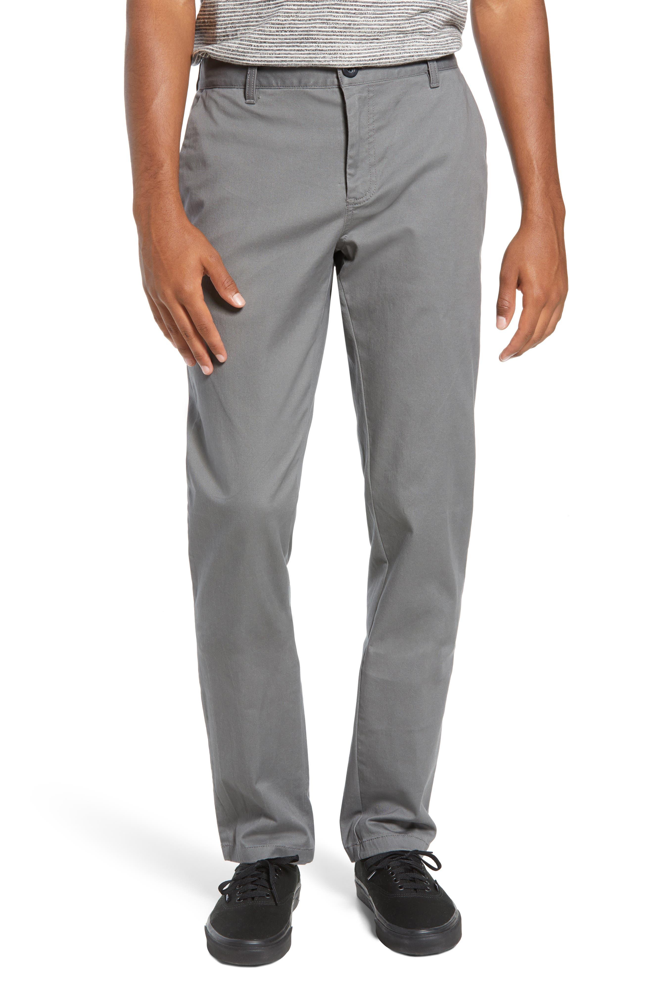 Straight Leg Chinos,                         Main,                         color, GREY CASTLEROCK