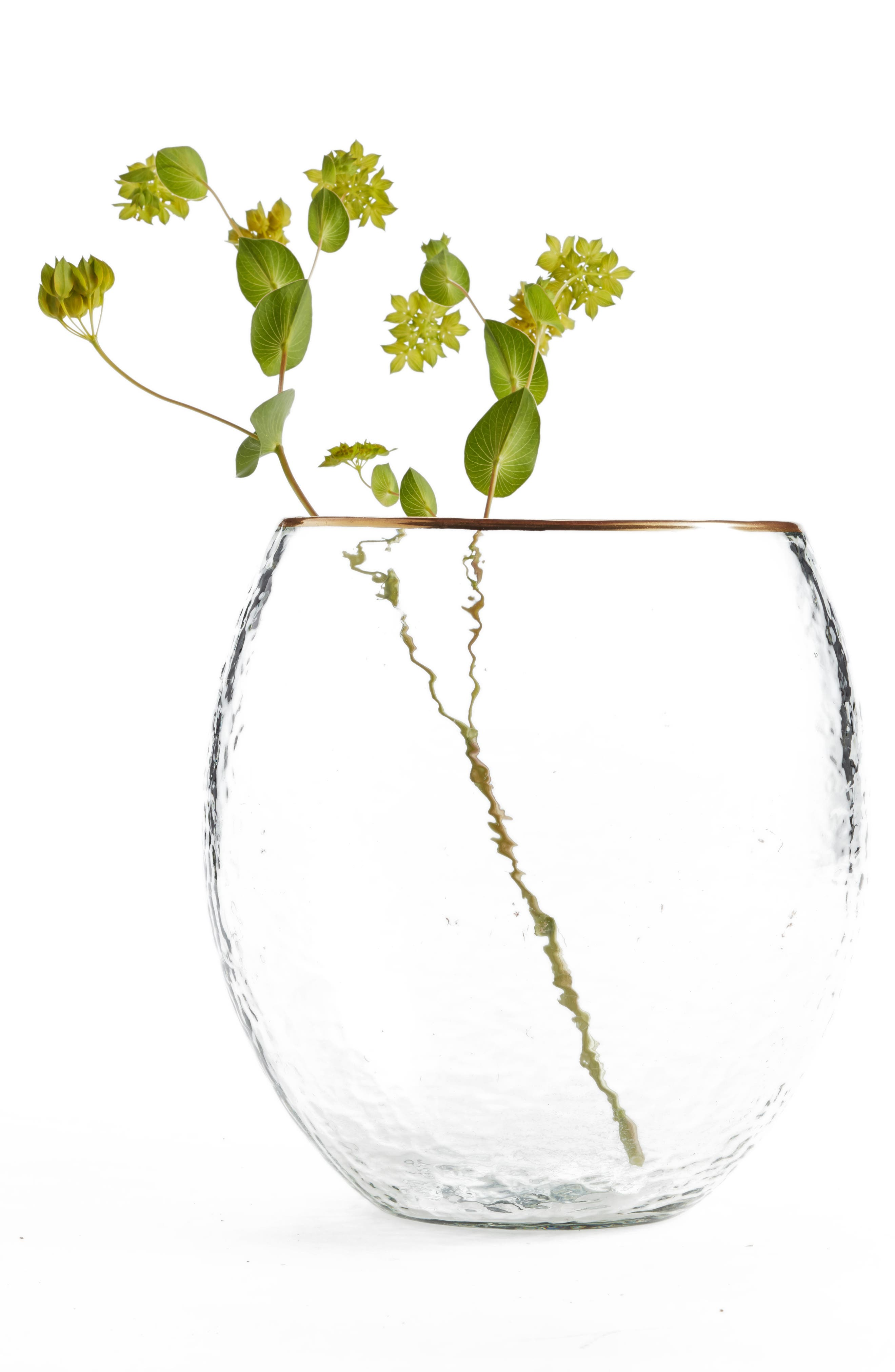 Gold Rim Vase,                         Main,                         color, 960