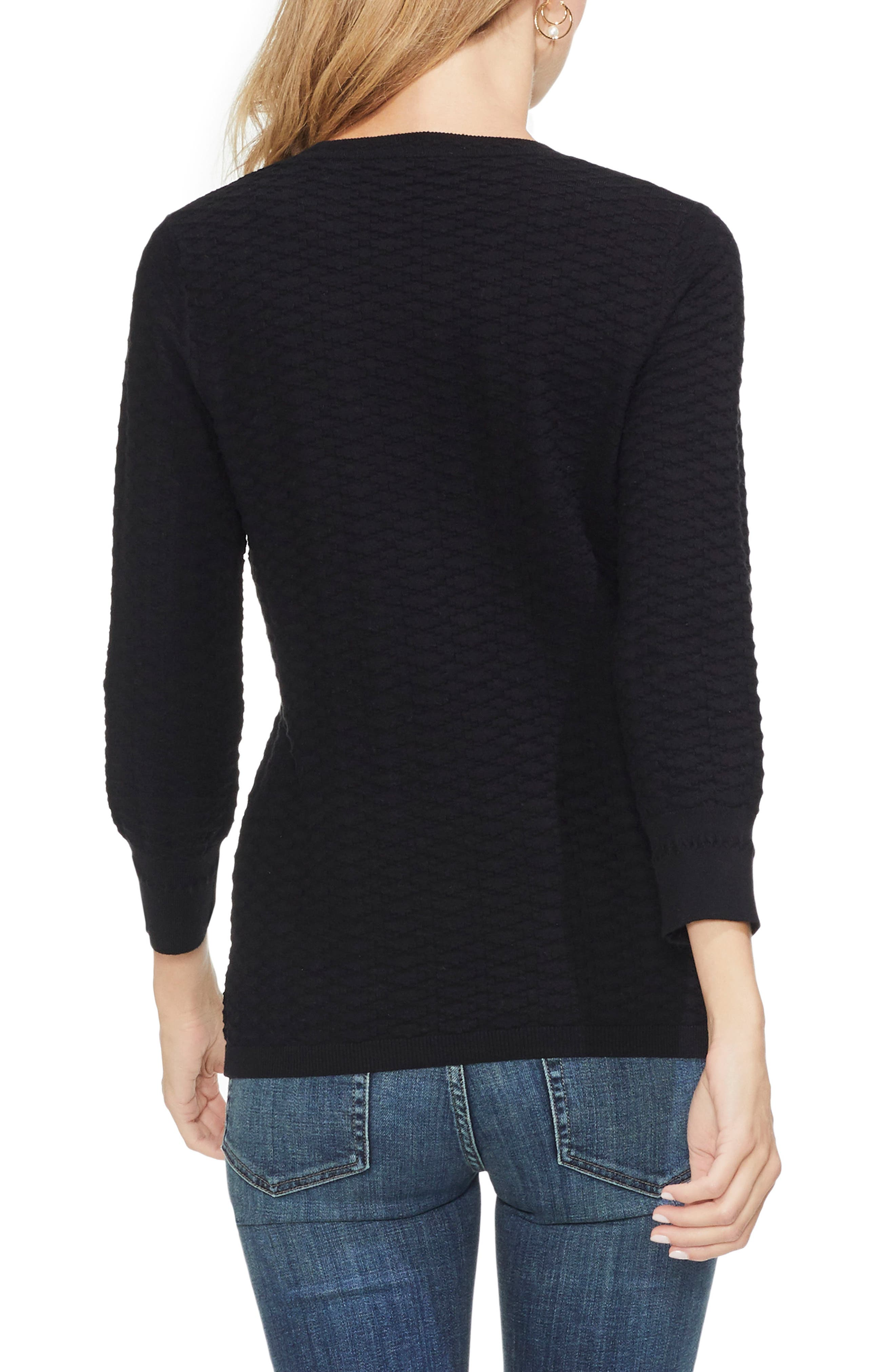 VINCE CAMUTO,                             Rhombus Stitch Sweater,                             Alternate thumbnail 2, color,                             006