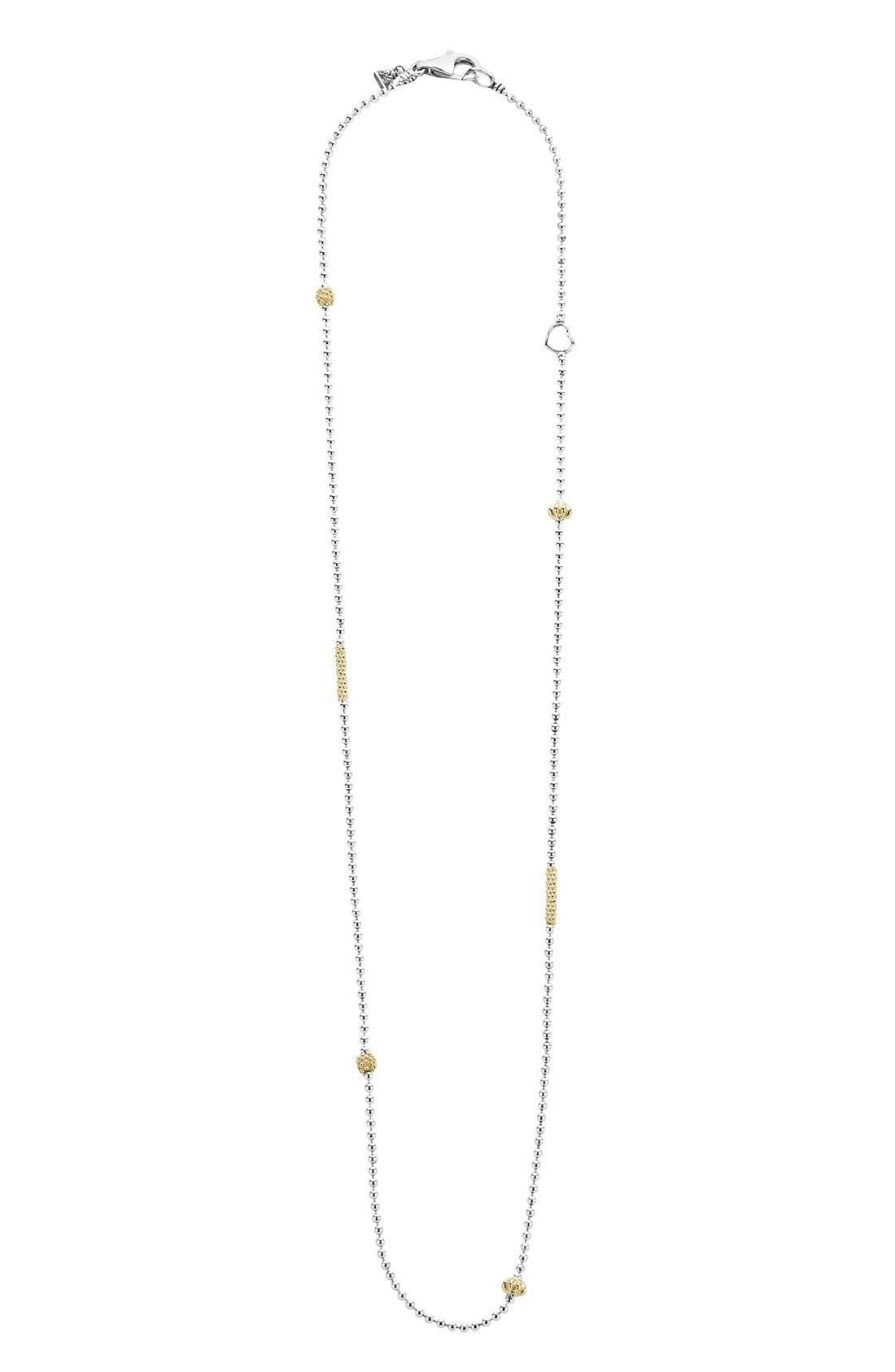 'Caviar Icon' Chain Necklace,                             Main thumbnail 1, color,                             SILVER/ GOLD