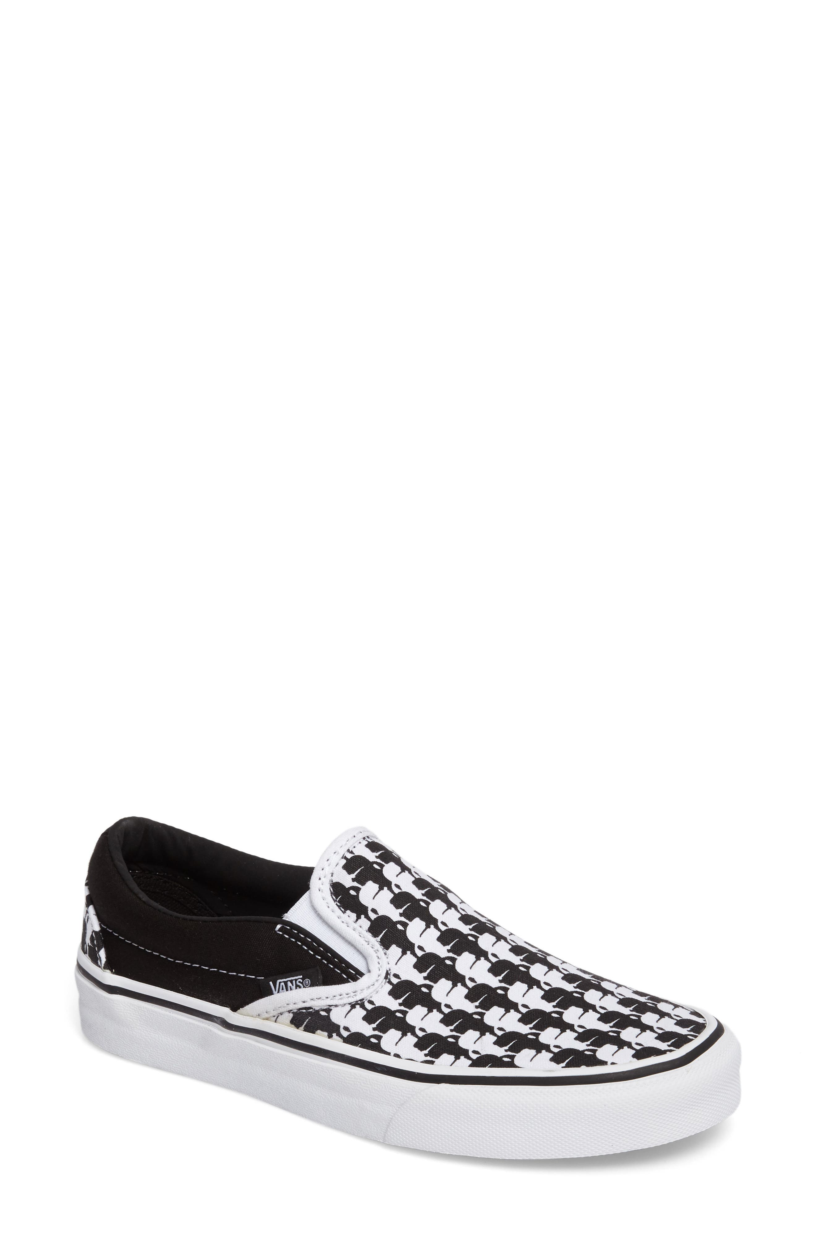 x KARL LAGERFELD Houndstooth Slip-On Sneaker,                         Main,                         color, 001