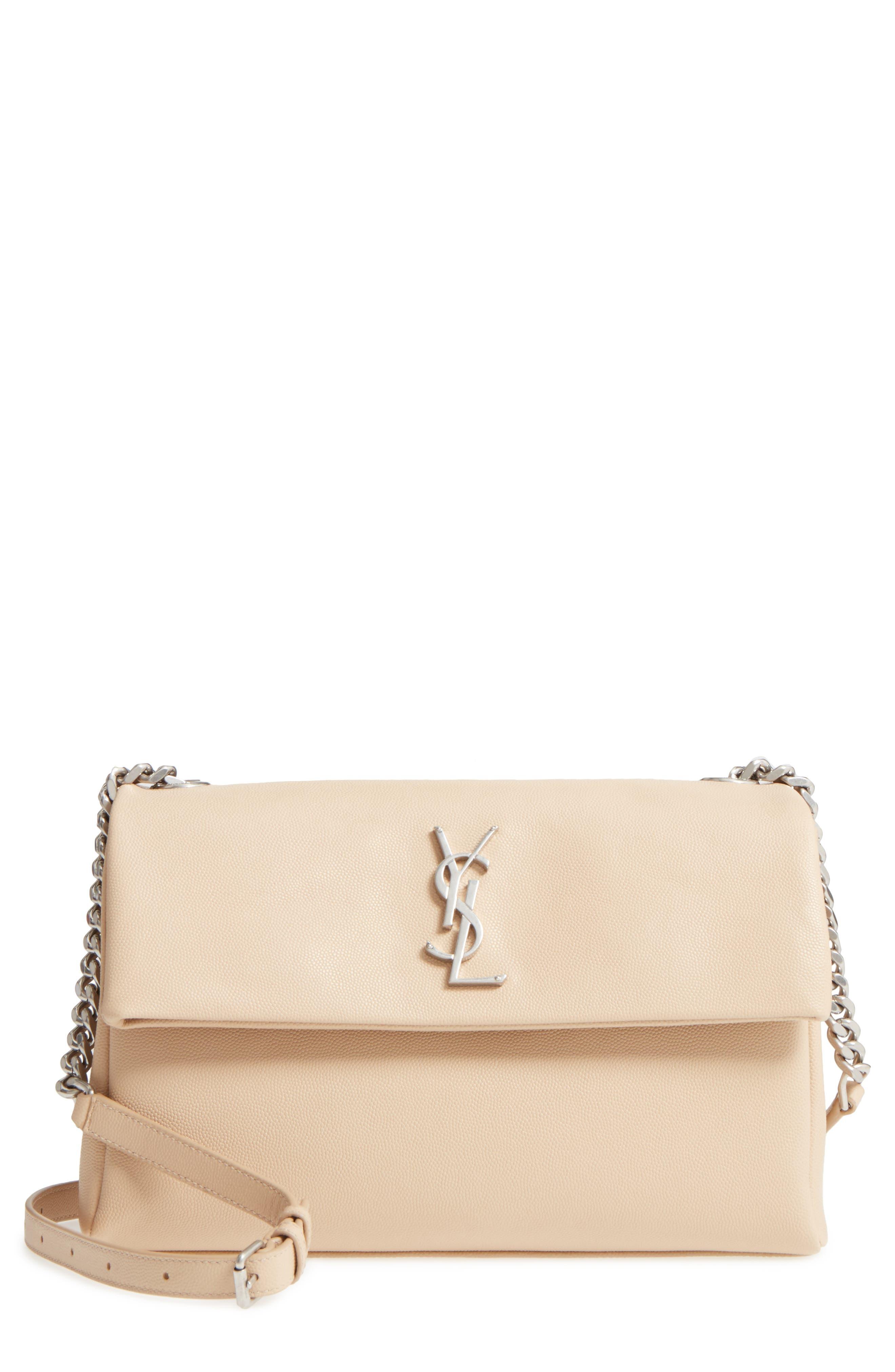 Medium West Hollywood Leather Shoulder Bag,                             Main thumbnail 3, color,