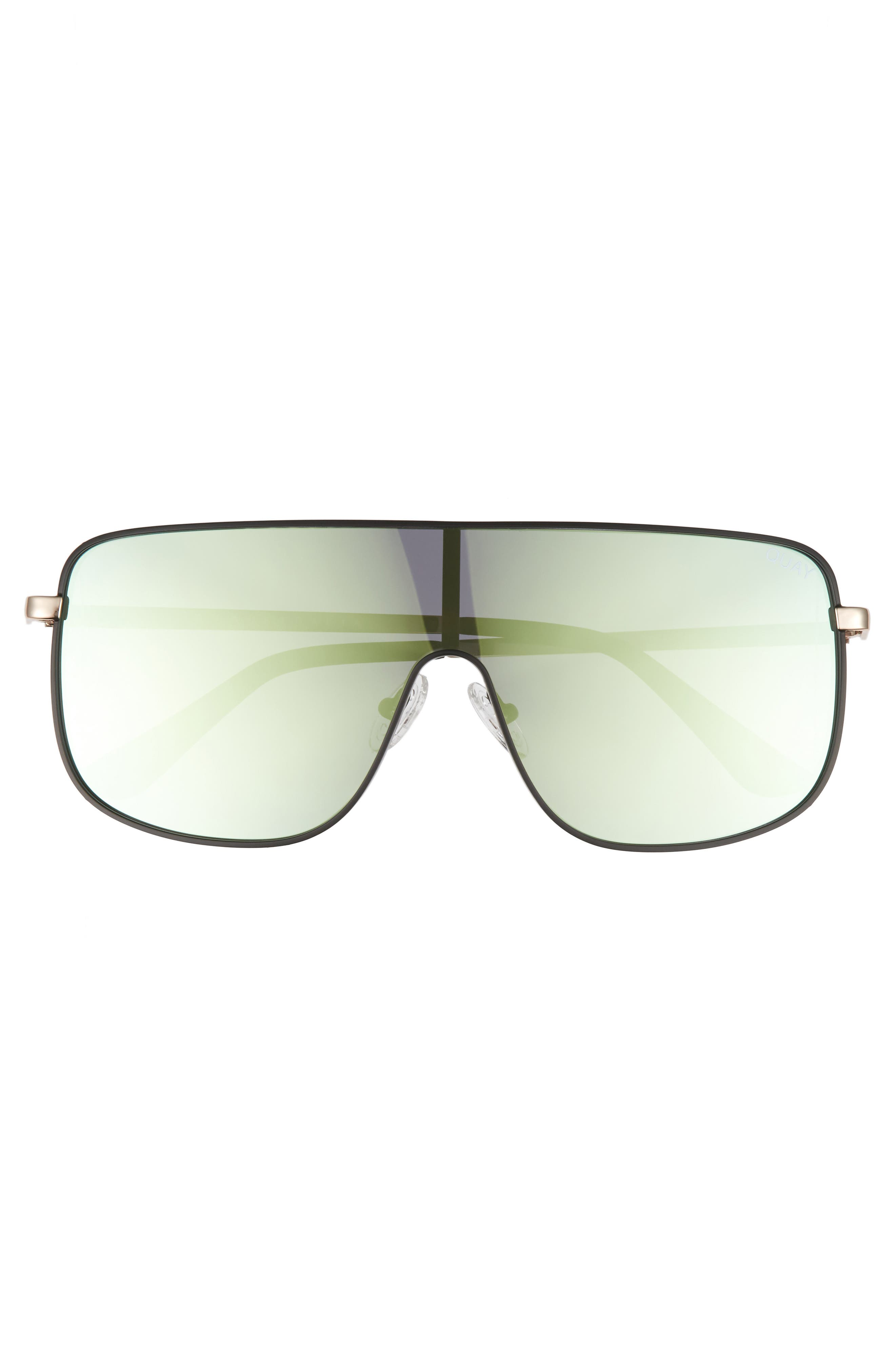 Unbothered 68mm Shield Sunglasses,                             Alternate thumbnail 3, color,                             001
