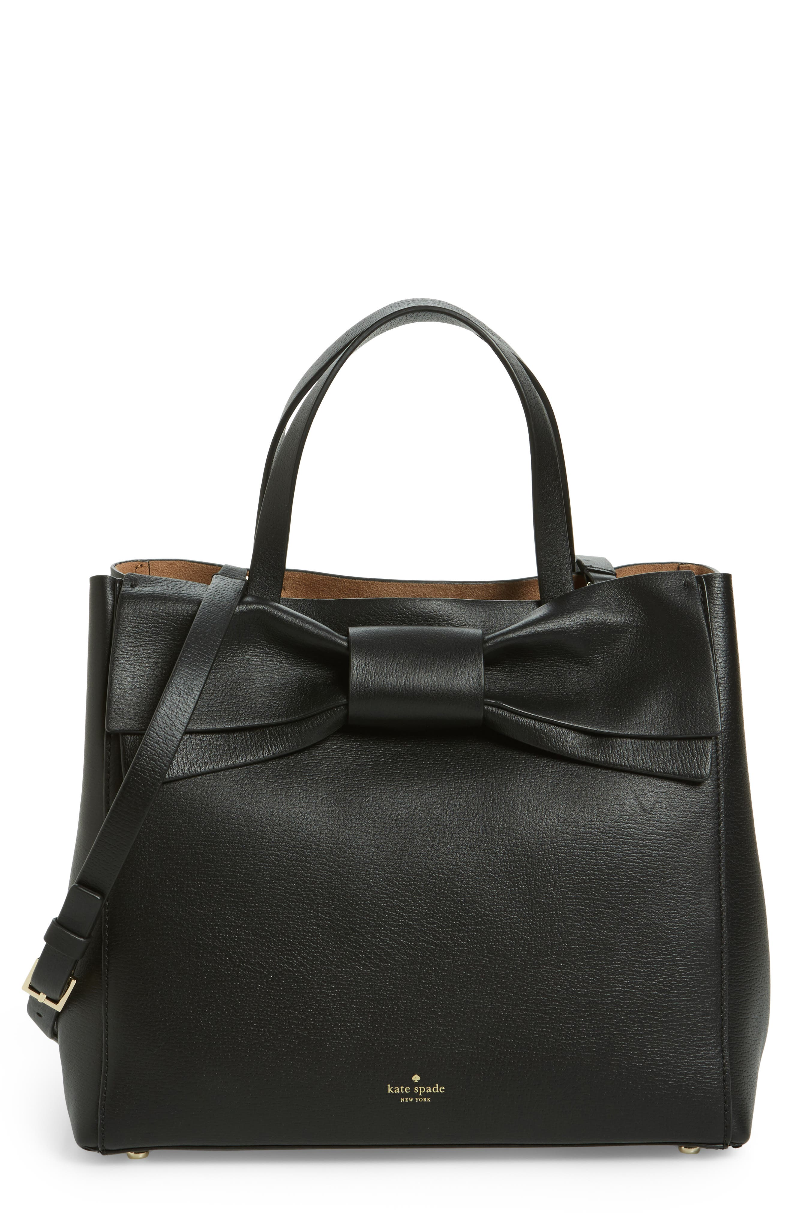 olive drive - brigette leather satchel,                             Main thumbnail 1, color,                             001