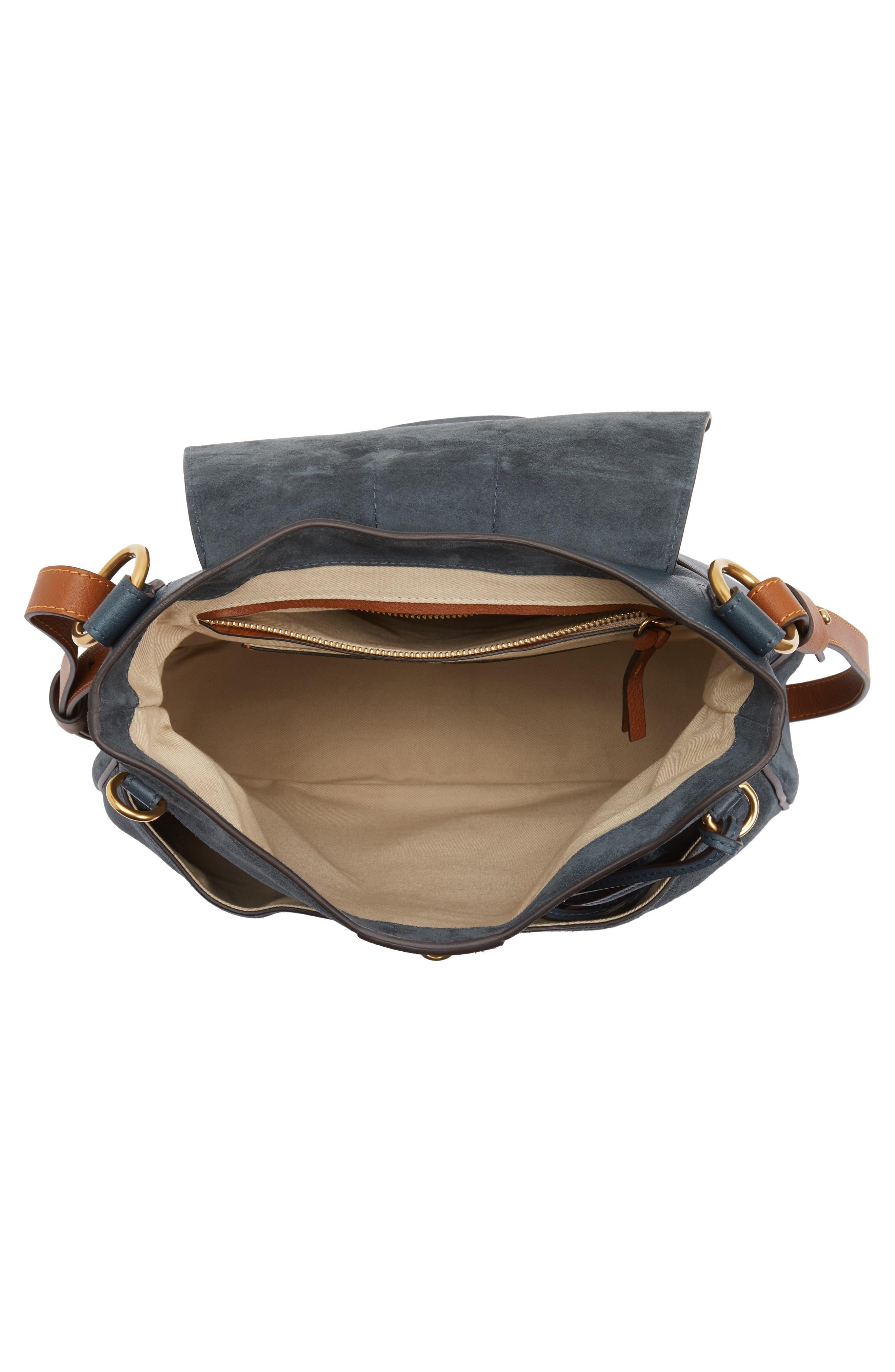 Medium Lexa Leather Shoulder Bag,                             Alternate thumbnail 8, color,