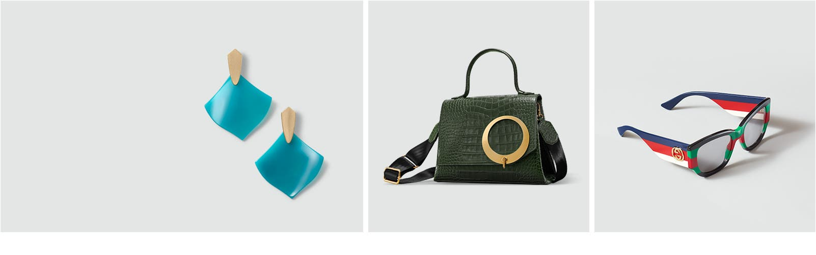 New handbags and accessories.