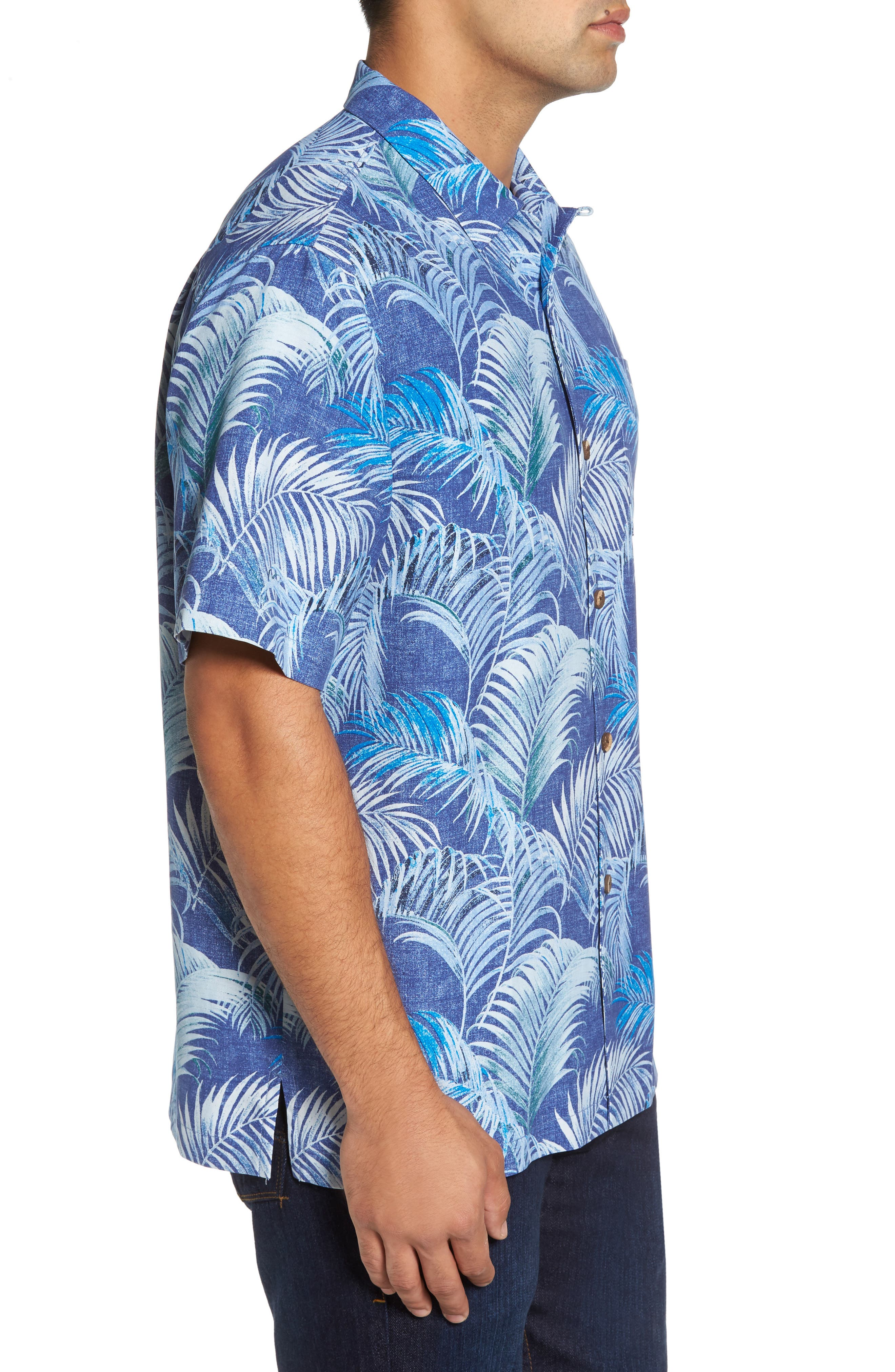 Garden of Hope and Courage Silk Camp Shirt,                             Alternate thumbnail 3, color,                             400