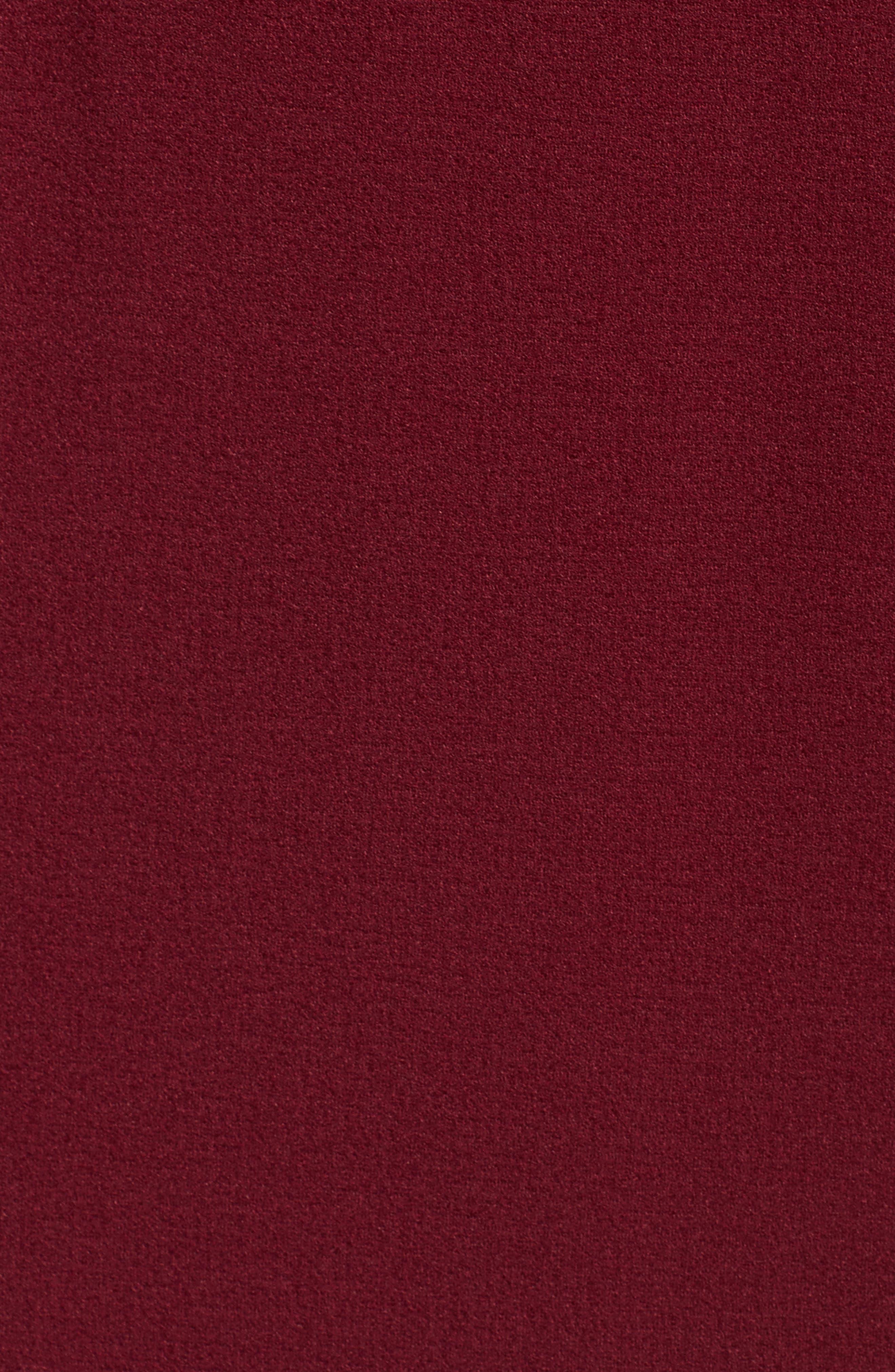 Cold Shoulder Crepe Sheath Dress,                             Alternate thumbnail 10, color,