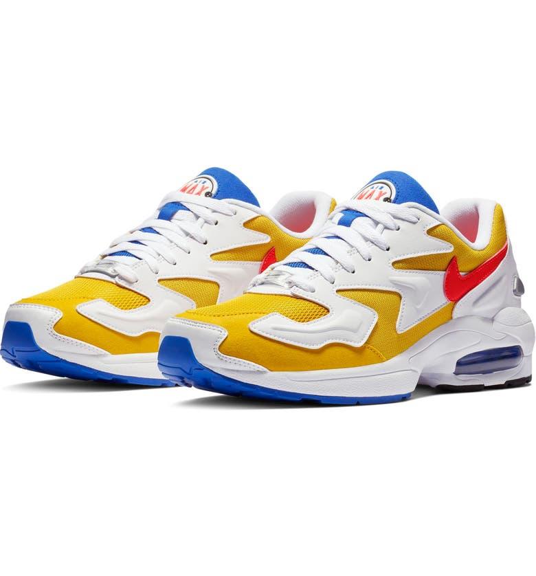 purchase cheap dad1b 87cbf NIKE Air Max2 Light Sneaker, Main, color, GOLD CRIMSON  BLUE