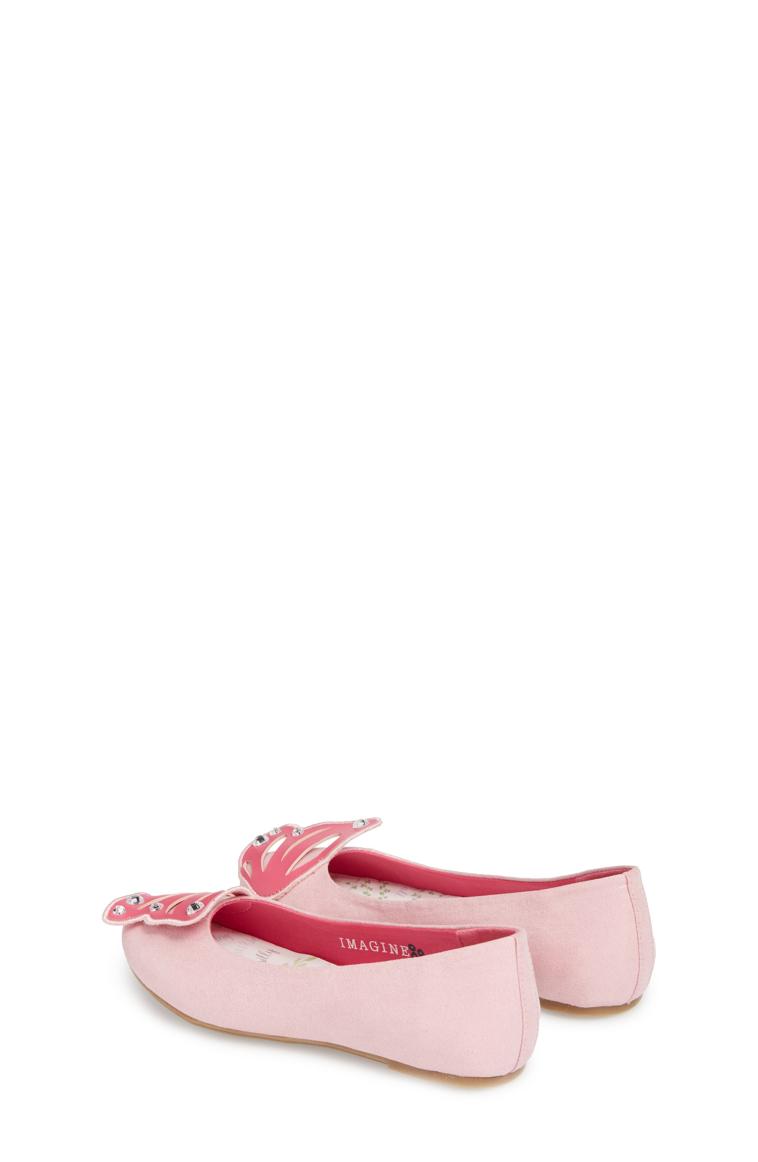 WellieWishers by American Girl Flutter Wings Embellished Ballet Flat,                             Alternate thumbnail 2, color,